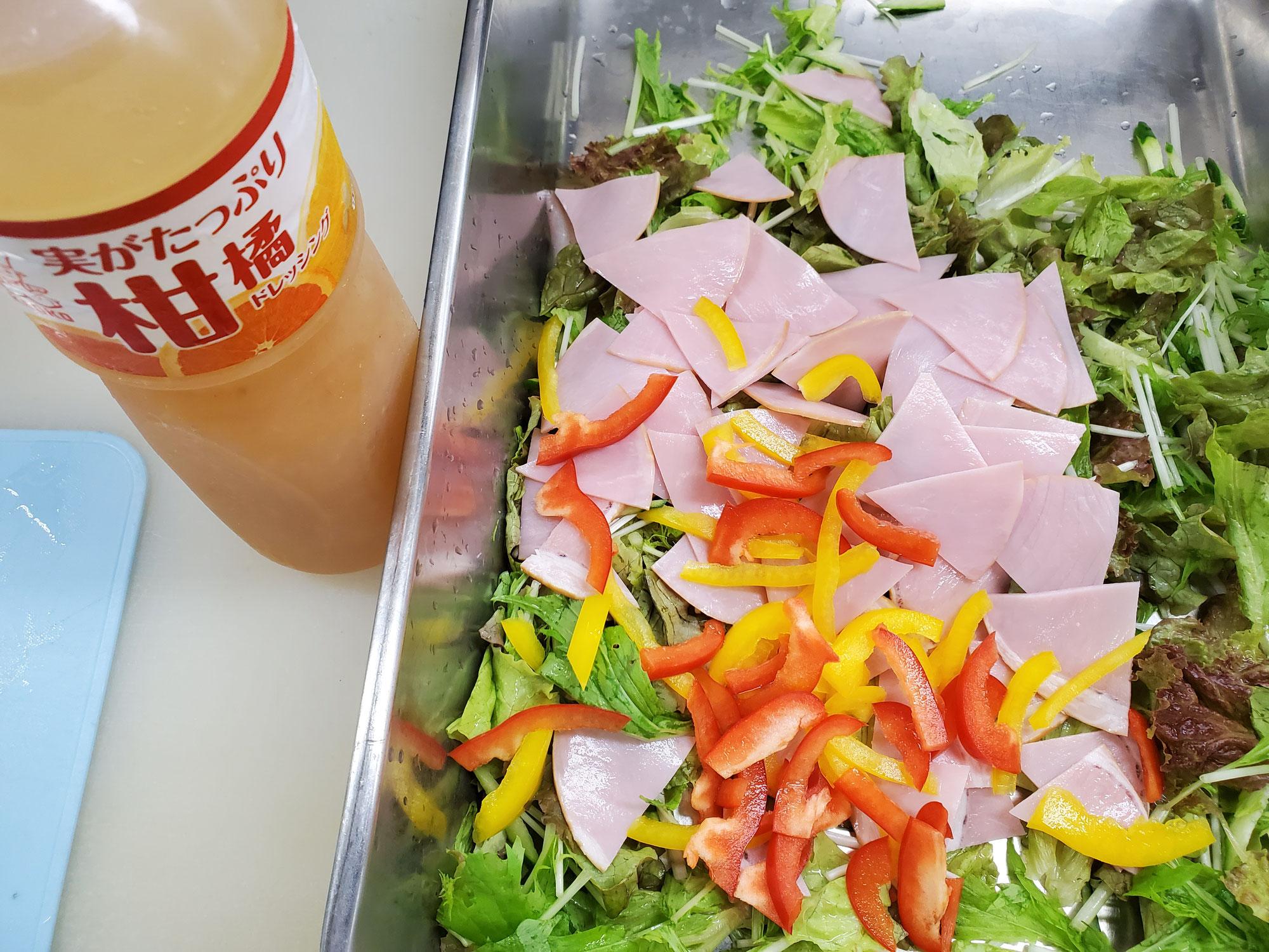 柑橘ドレッシング ロースハムサラダ