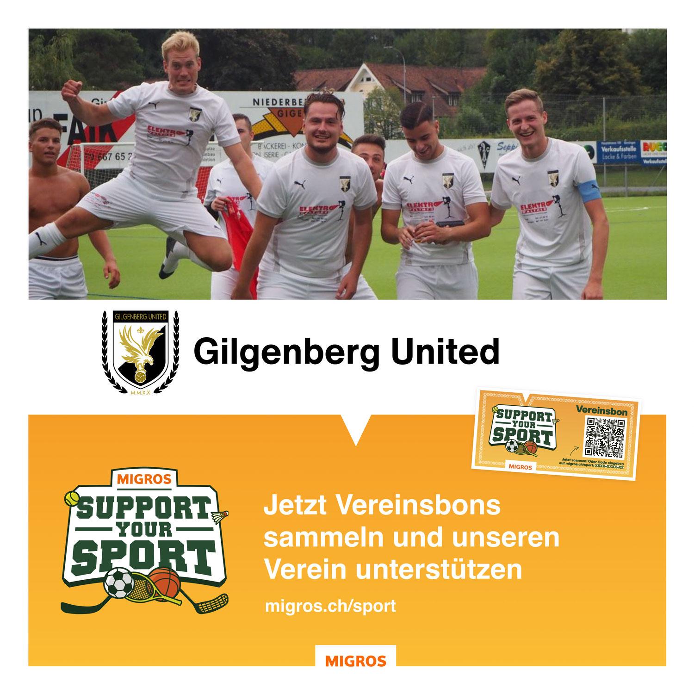 Support Your Sport - Unterstütze Gilgenberg United!