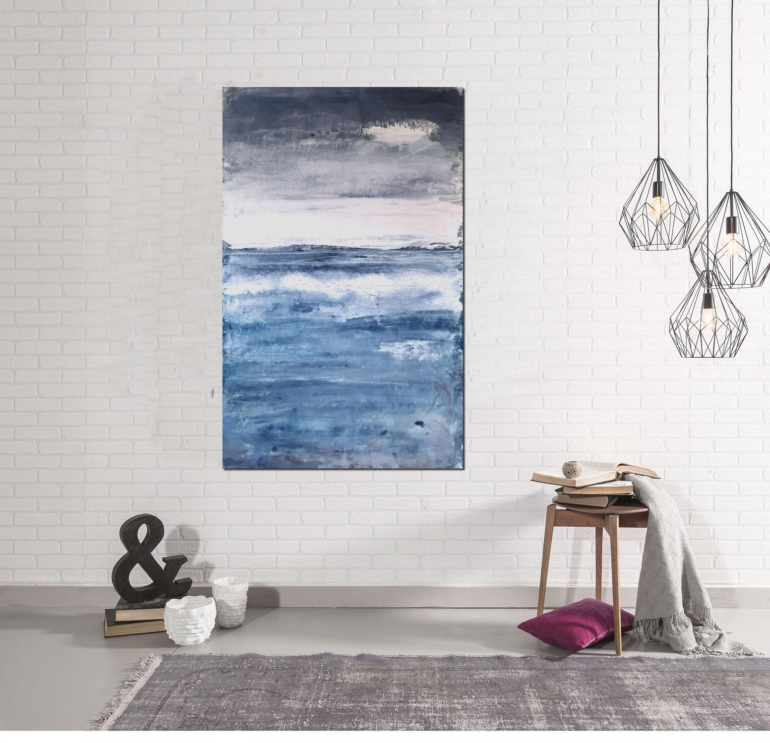 blaue Landschaft für Ihren Raum