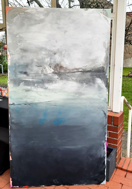 abstraktes xxl Bild 180 x 100 cm
