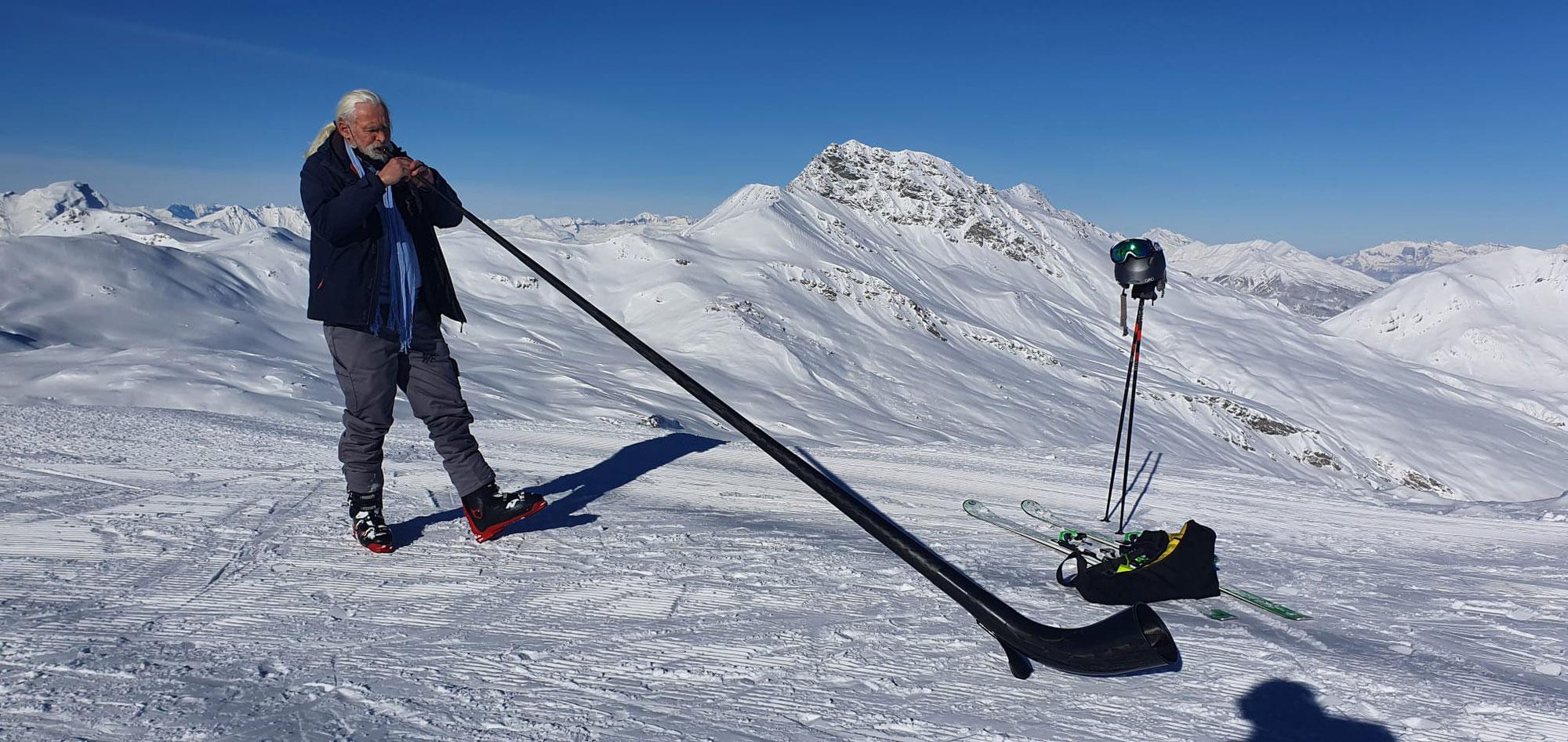 Gestern im Skigebiet Savognin unterwegs