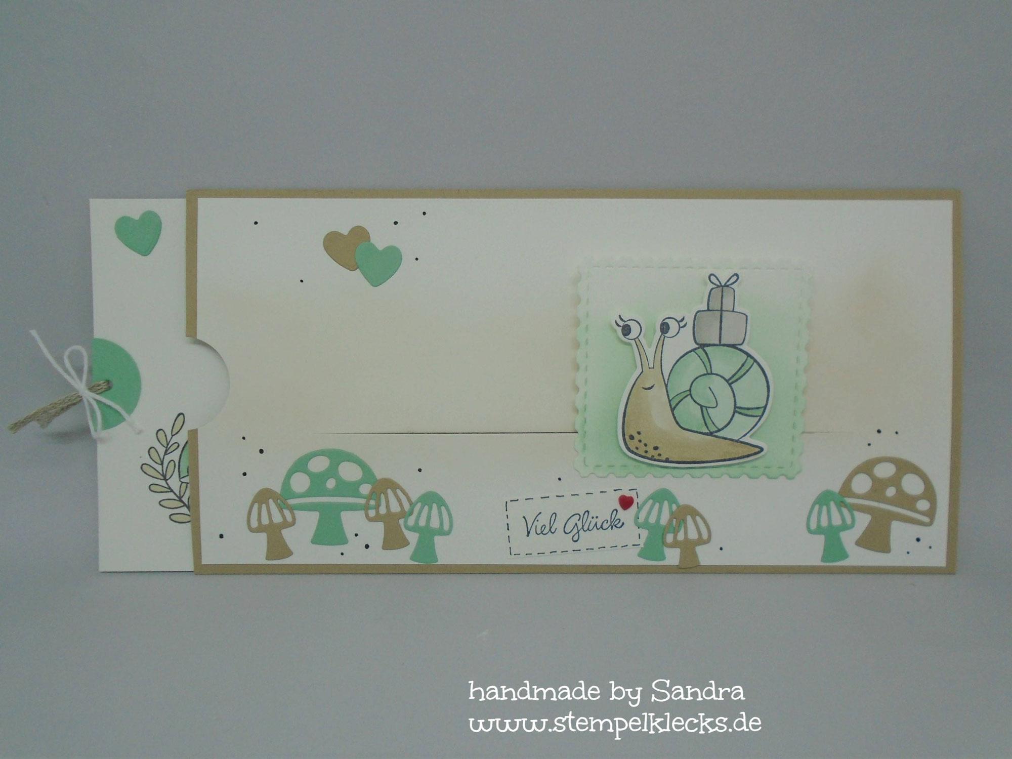 Schneckenpost - Ziehkarte mit Schiebeelement