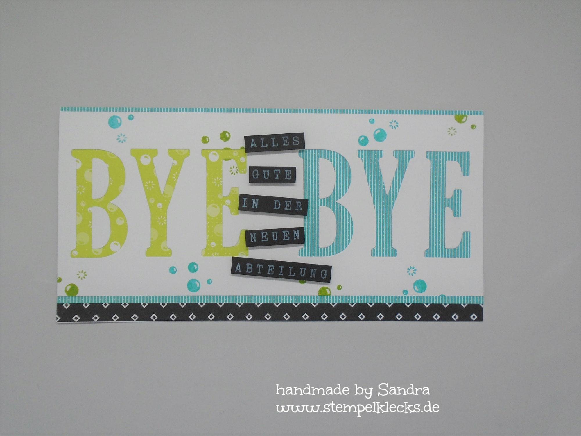 Bye, bye - Abschiedskarte