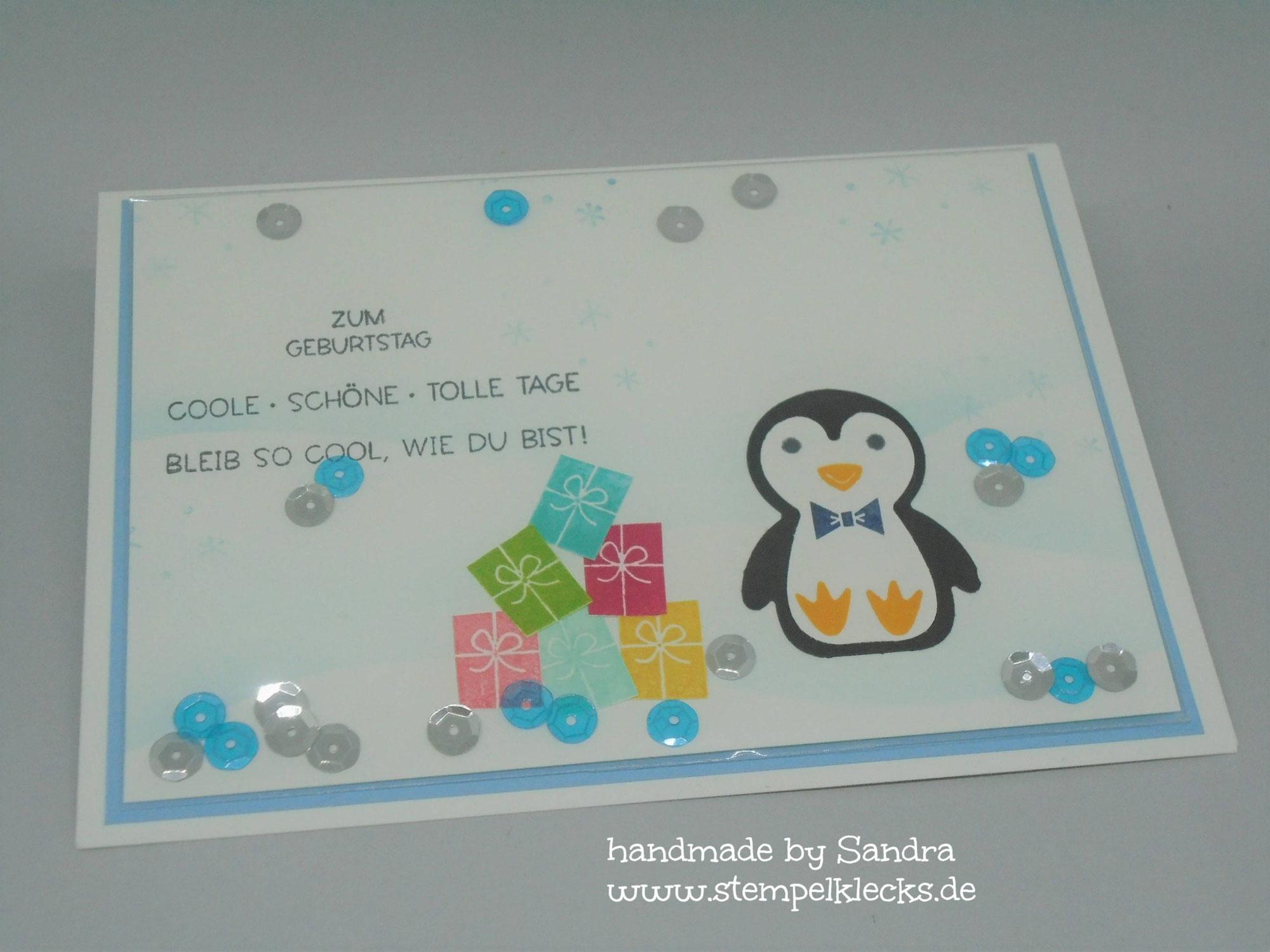 Pinguin Party - Schüttelkarte