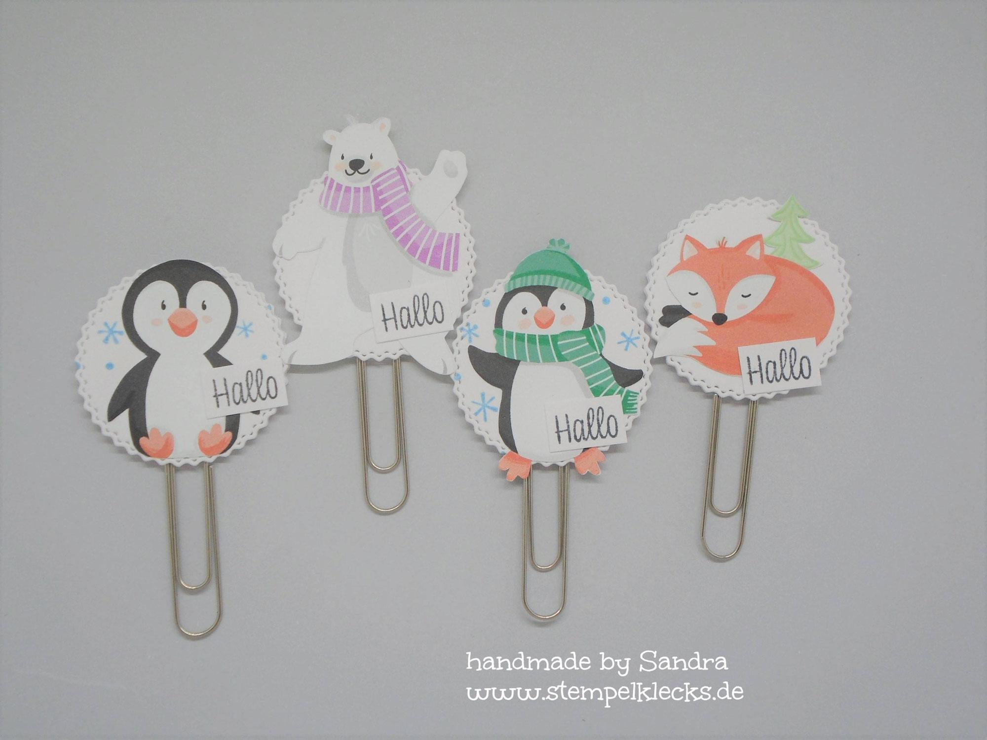 Lesezeichen - Pinguin Party