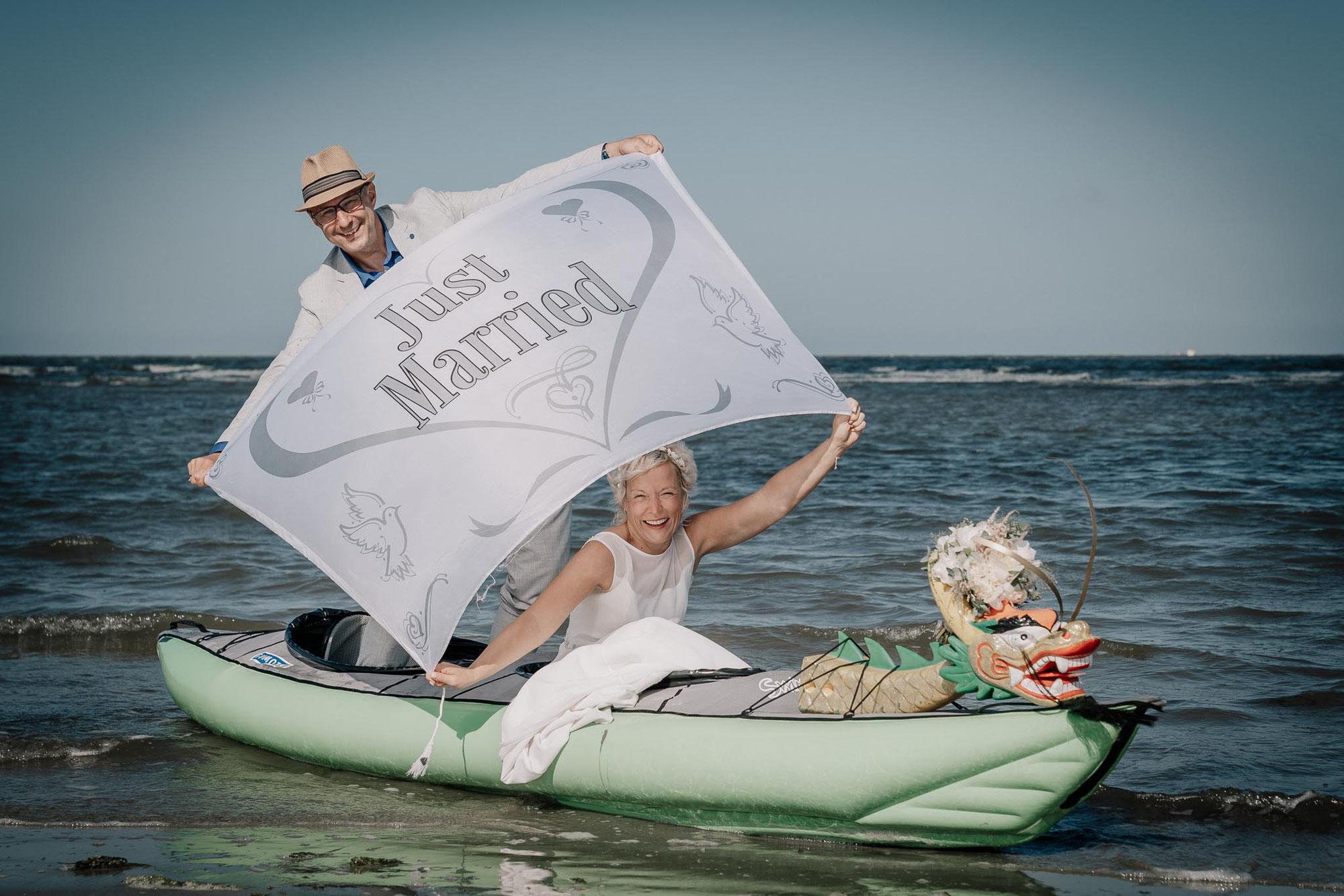 After Wedding-Shooting mit und ohne Drachenboot