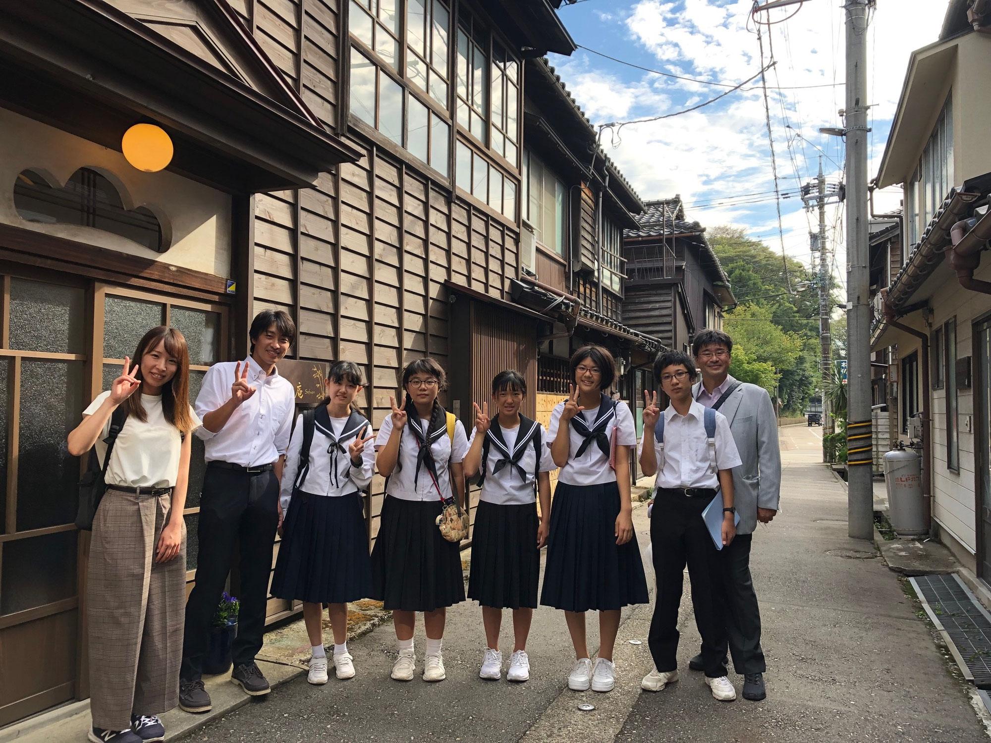 島の中学校の修学旅行生を迎えました