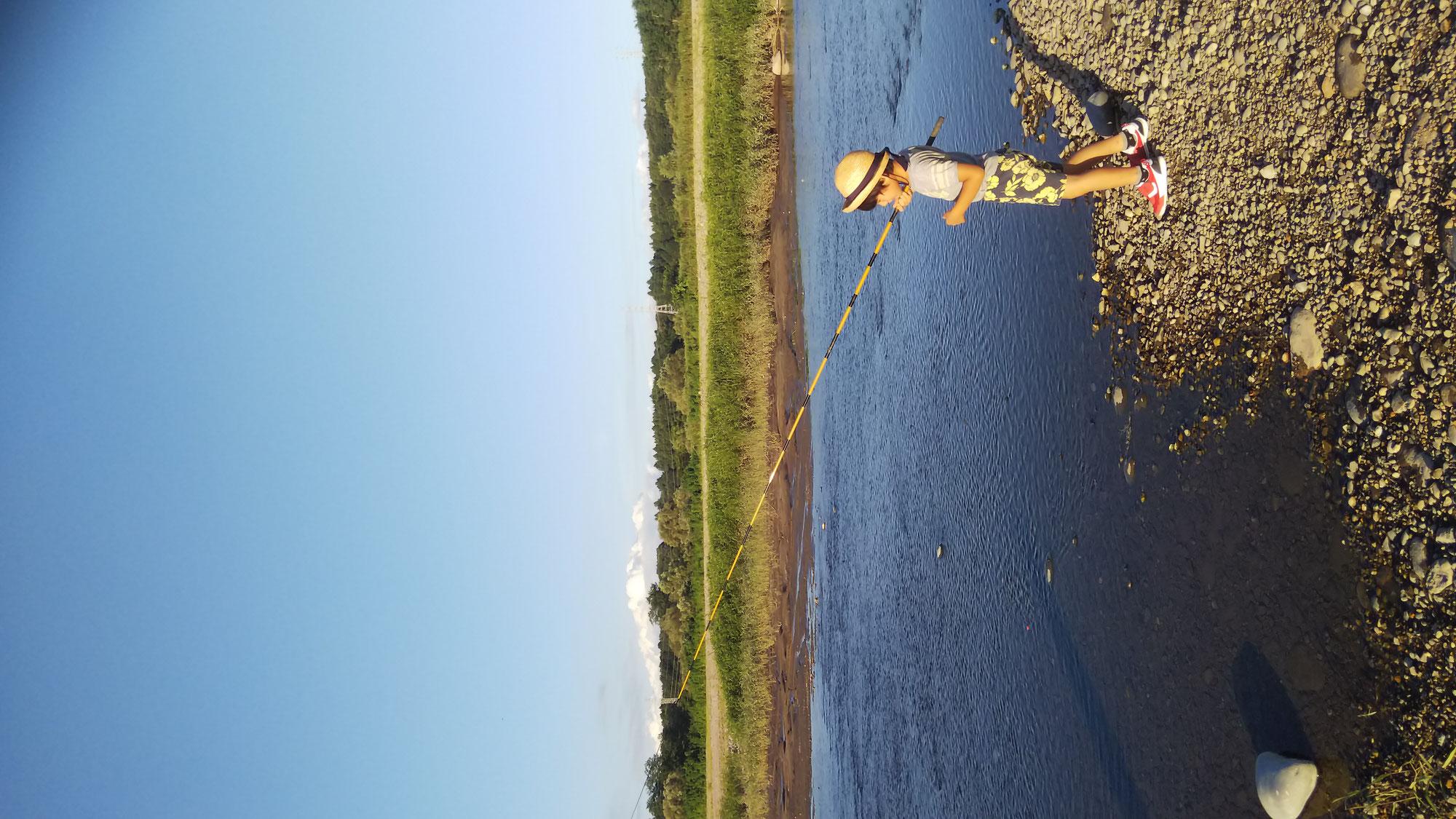 息子を釣りの道に、、、