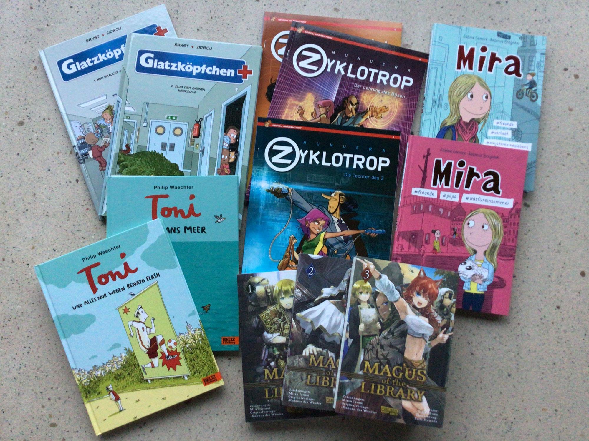 Vier Comics und ein Manga (2017-2020)