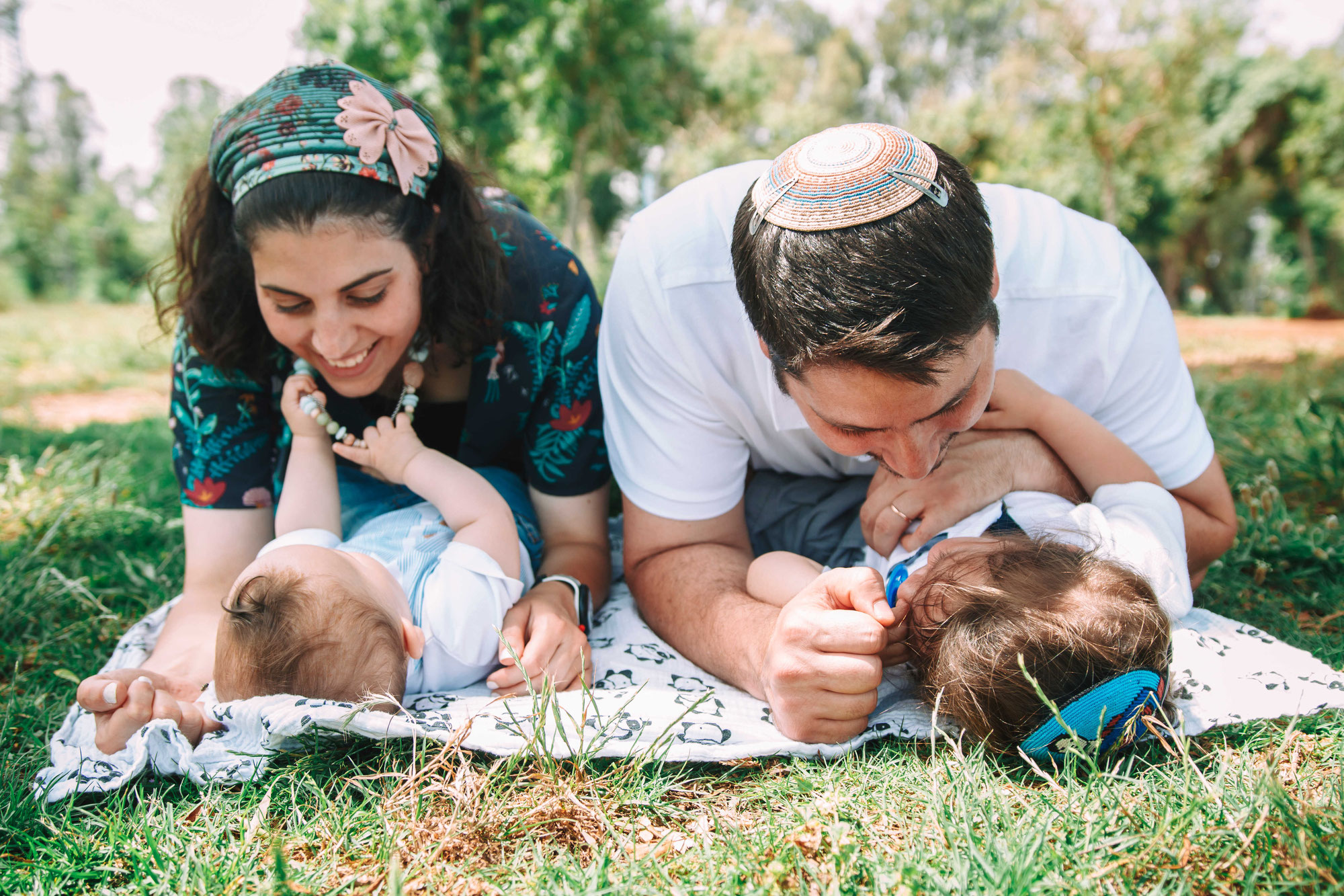 צילומי משפחה בחיק הטבע של תל אביב