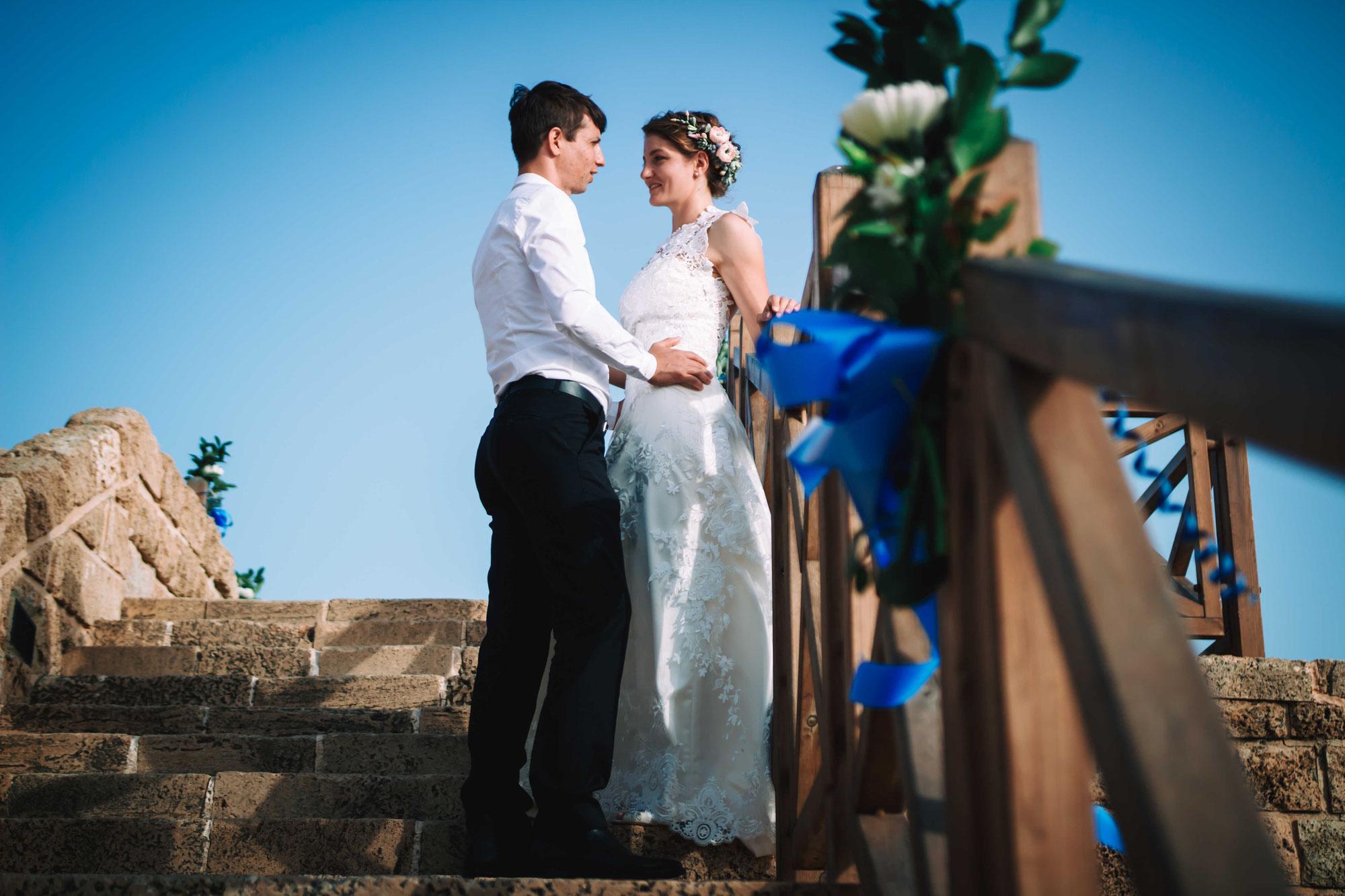 צילום חתונה בקיסר ים בקיסריה - חוויה בלתי נשכחת