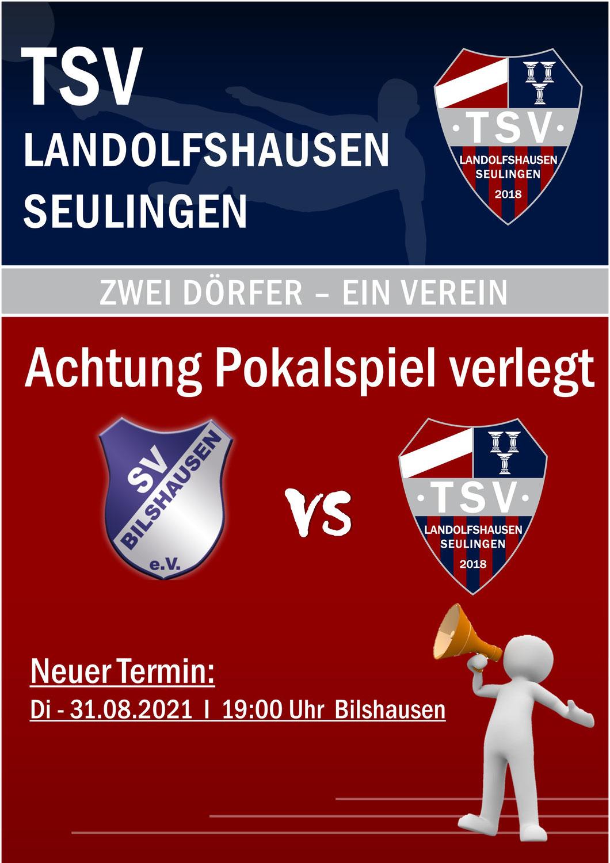 Achtung: Pokalspiel gegen SV Bilshausen verlegt!