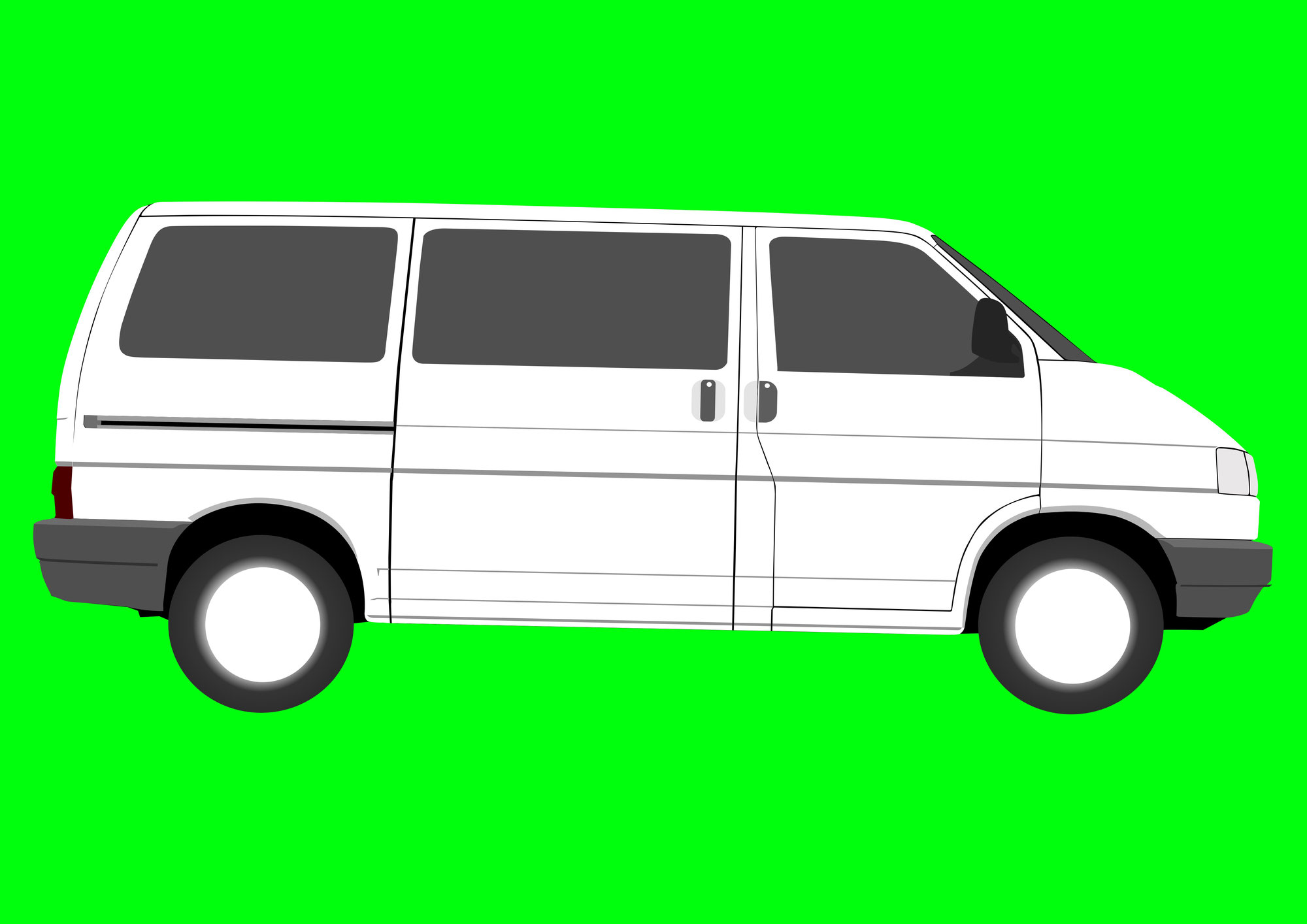 VW T4 Transporter als Vektorgrafik