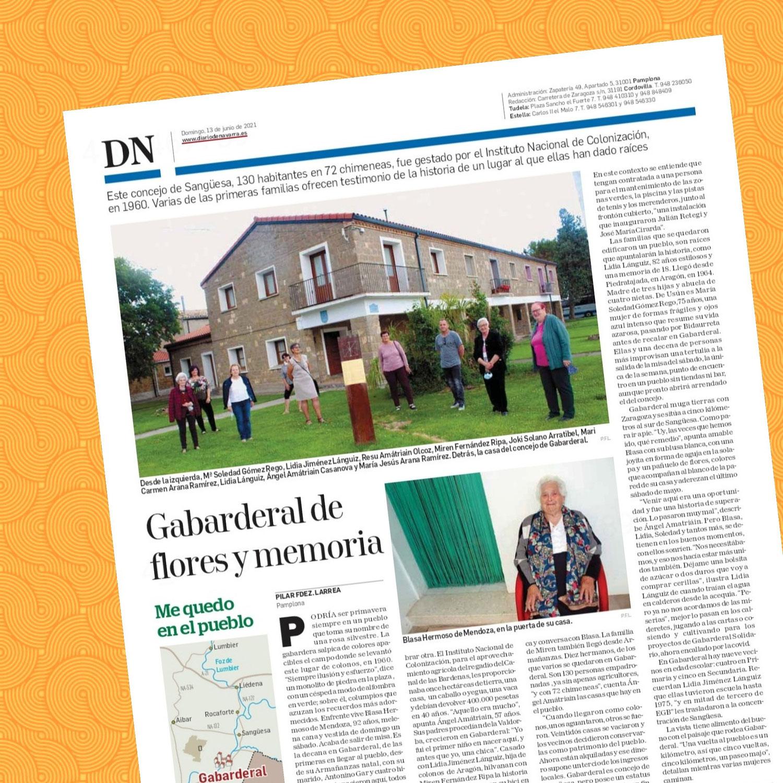 Hoy, en Diario de Navarra, la historia y la vida de Gabarderal