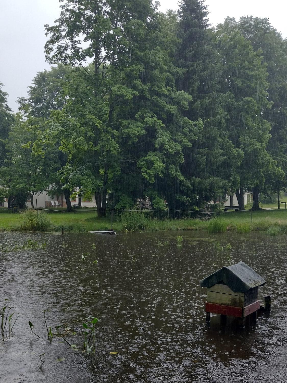 An einem Regentag