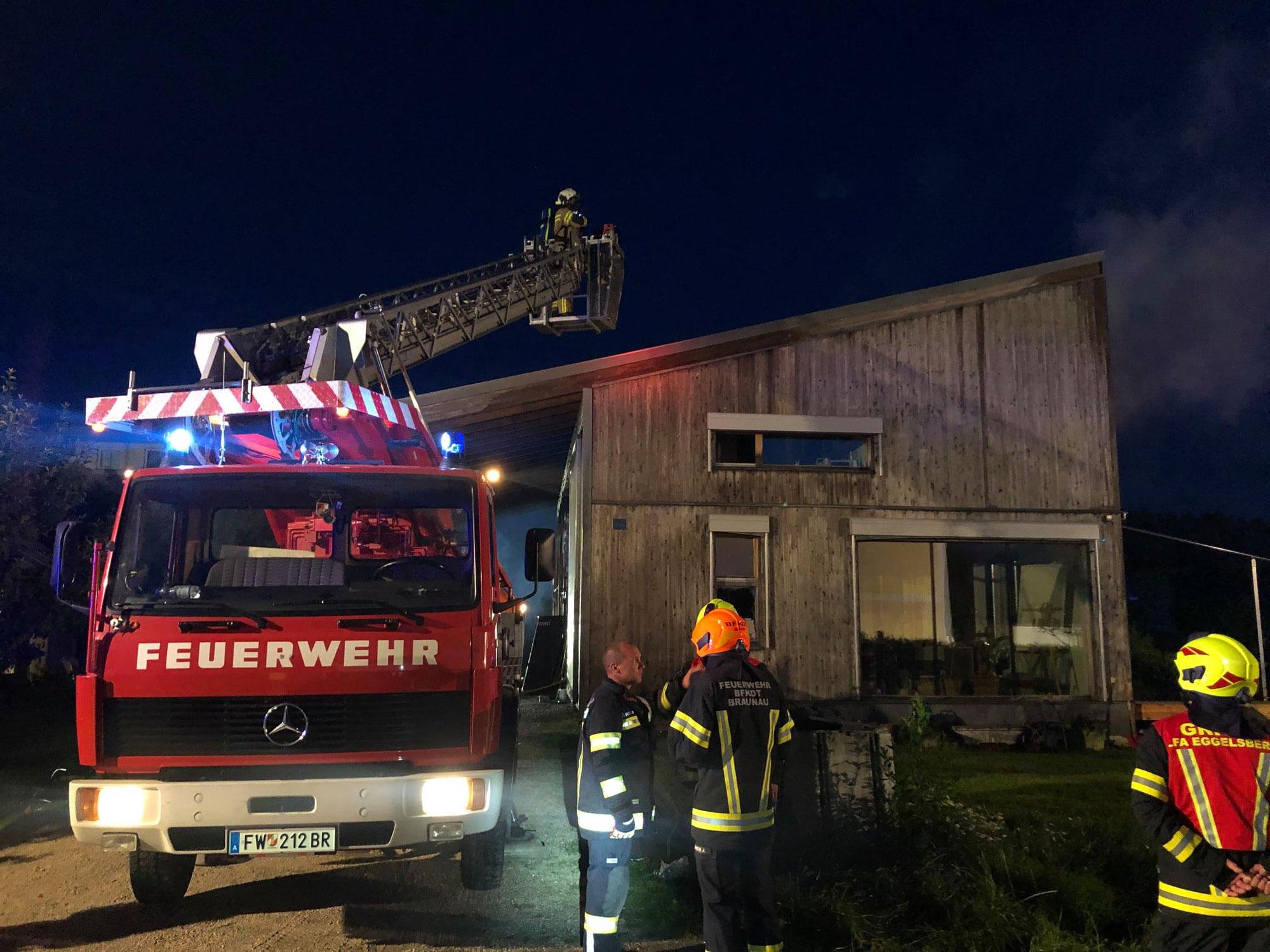 Wohnhausbrand in Hackenbuch