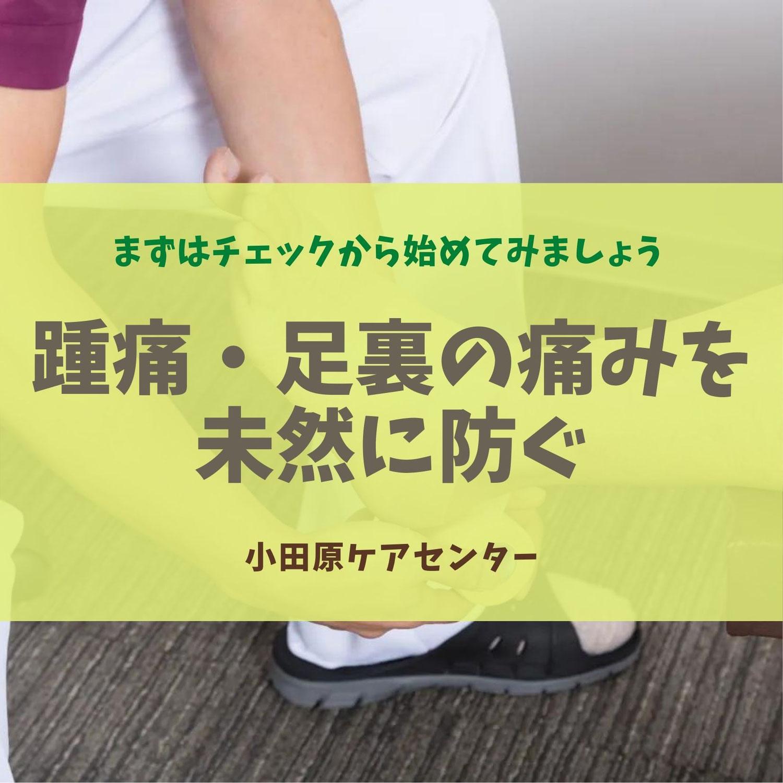 踵痛・足裏の痛みを未然に防ぐ