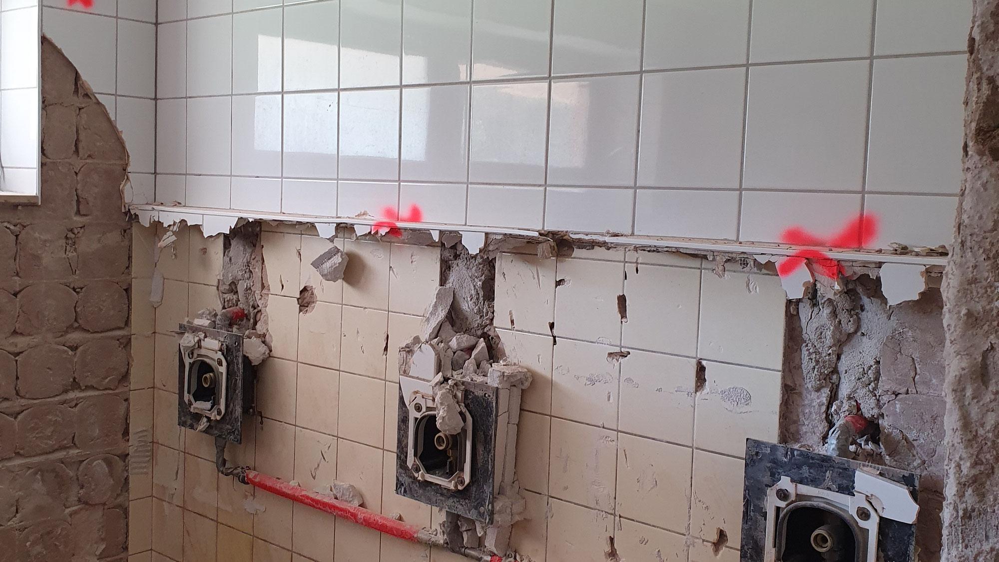 Sanierung der Sanitäranlagen im Sporthaus