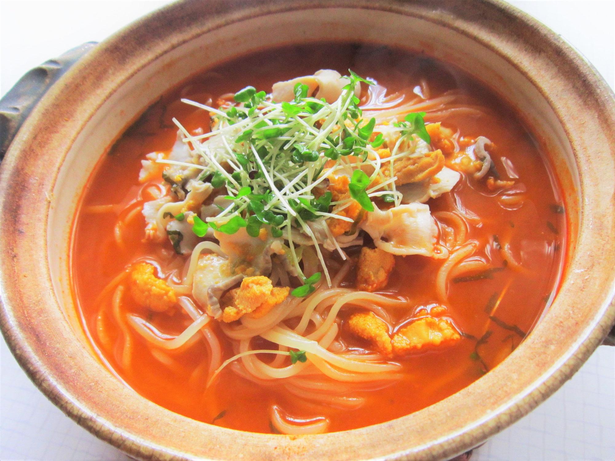 毎日冷麺 33日目 贅沢!三陸いちご温麺