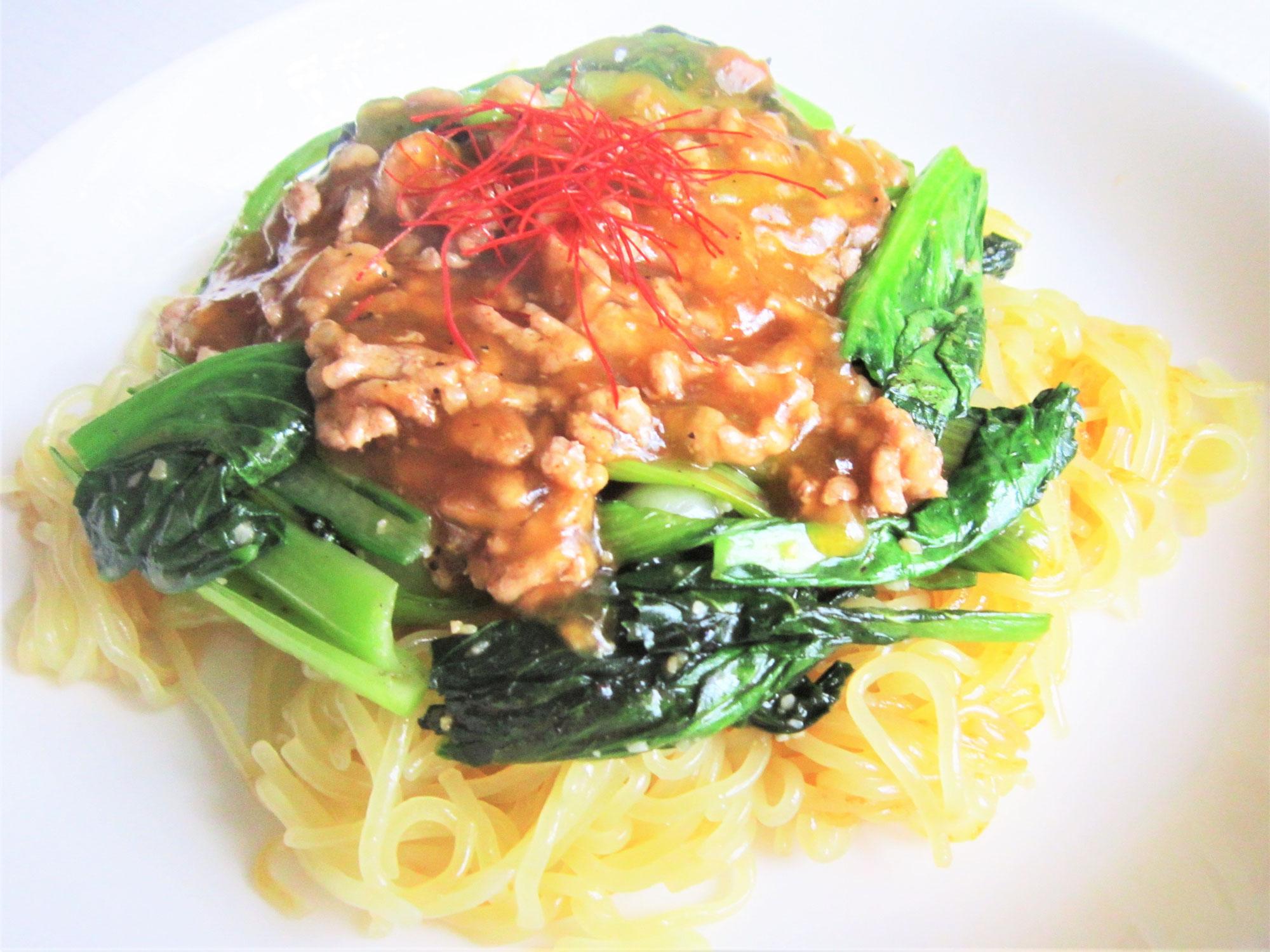 毎日冷麺 28日目 翡翠炒め焼き冷麺