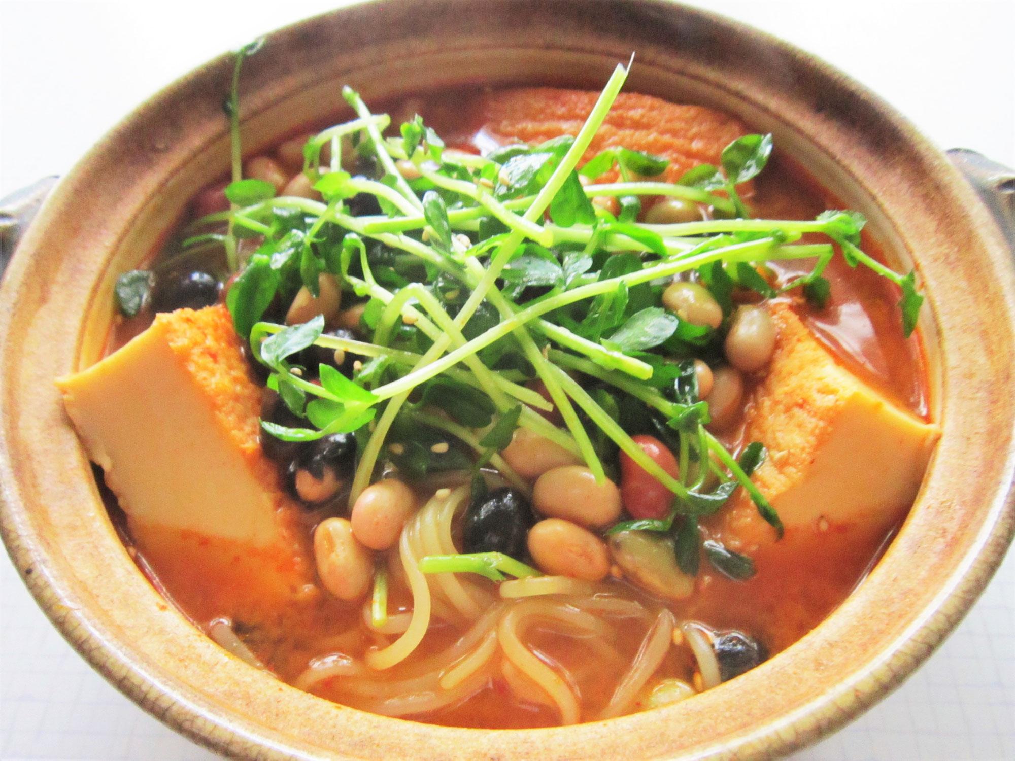 毎日冷麺 35日目 マメッコ温麺