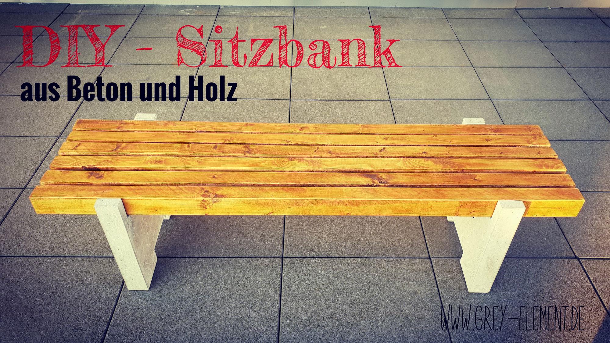 Eine Sitzbank Aus Holz Und Beton Selber Machen Betonmöbel