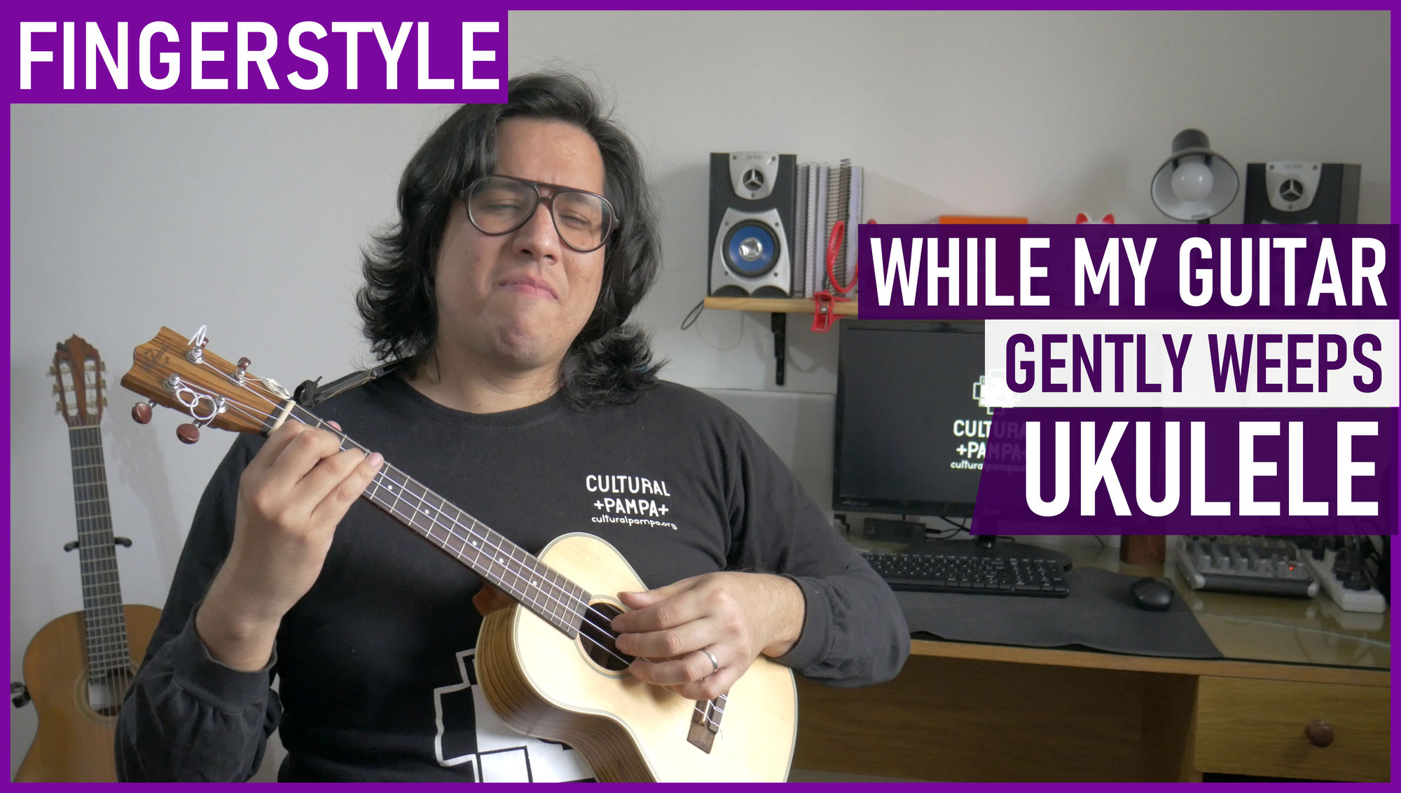 While my guitar gently weeps (Beatles) | Ukulele Fingerstyle LOW G