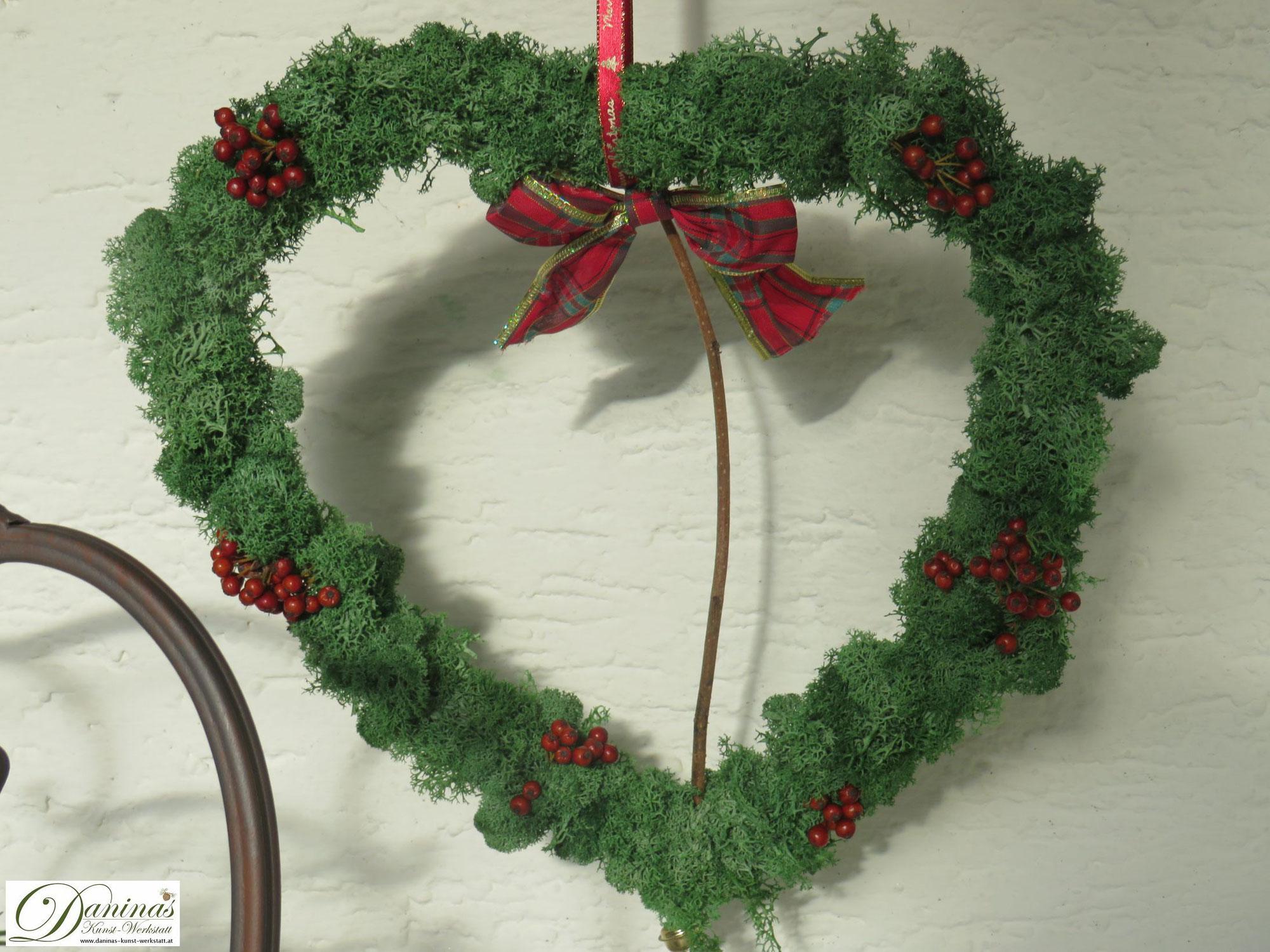 DIY Idee: Moos Herz Weihnachtsdeko