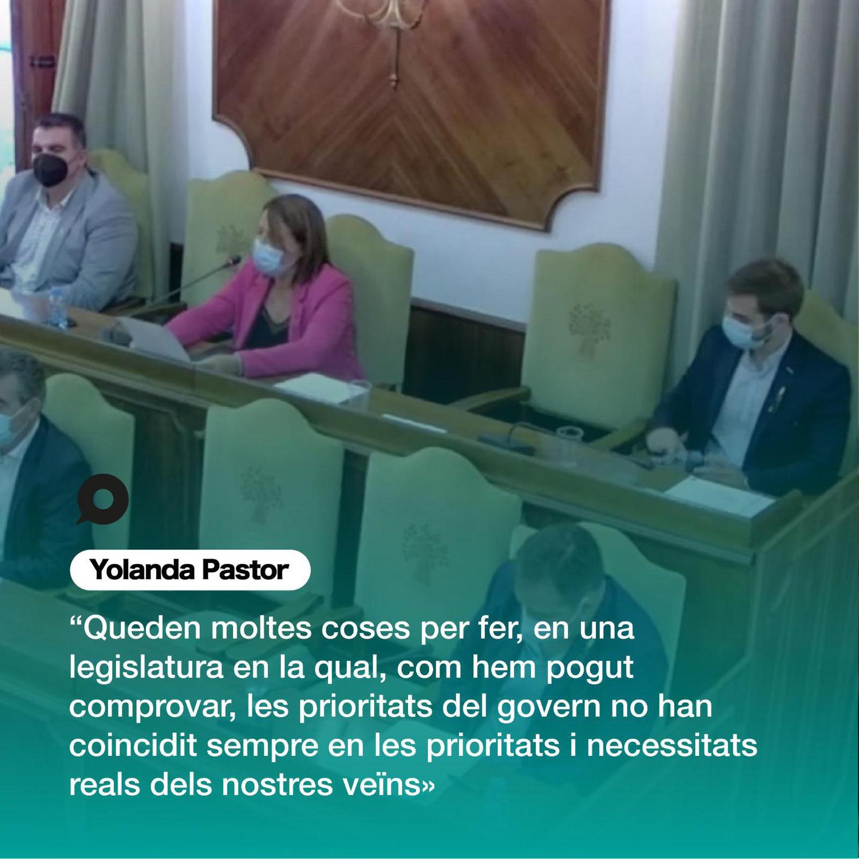 Discurs de Yolanda Pastor en el Plenari d'investidura de la nova alcaldessa d'Oliva