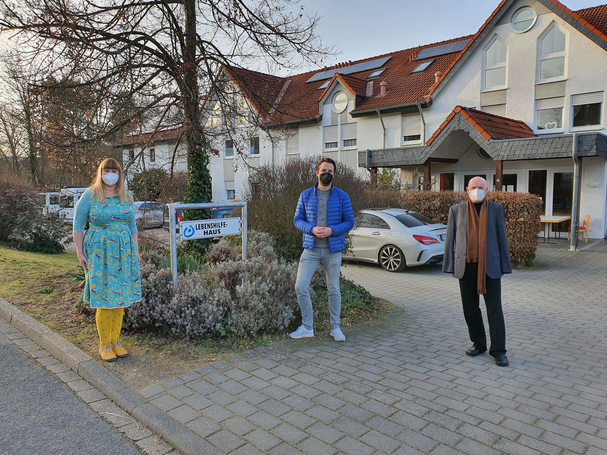 FDP-Landtagskandidat Martin Thormann besucht Lebenshilfehaus