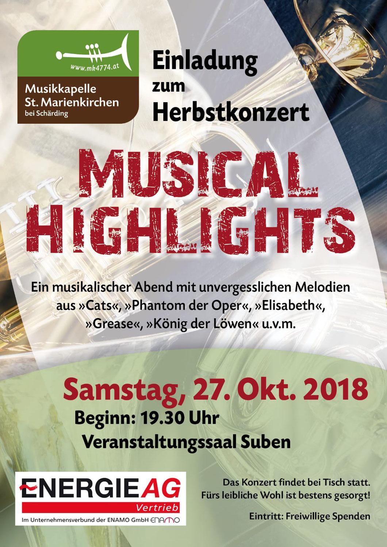 Vorankündigung Herbstkonzert 2018
