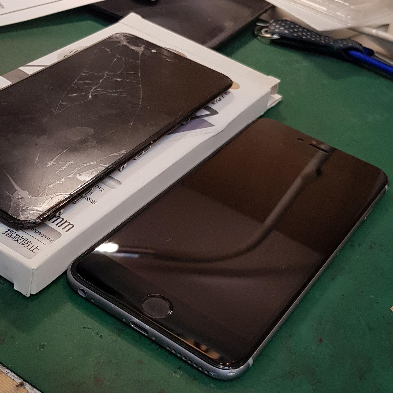 iPhone修理すぐにフィルムは非常に有効