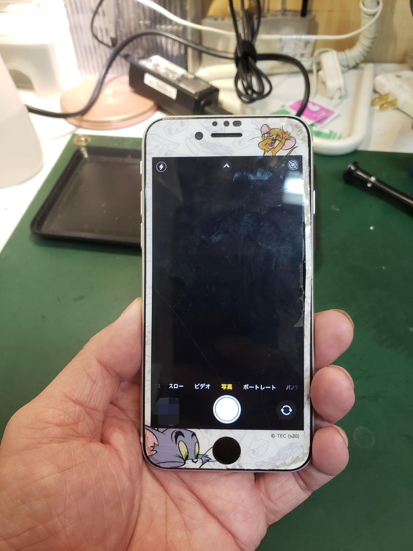 iPhoneSE外カメラ修理方法