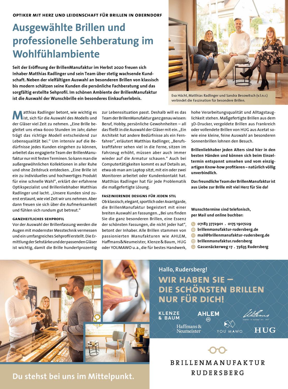 Rudersberger Spezialisten - Fachbetriebe stellen sich vor