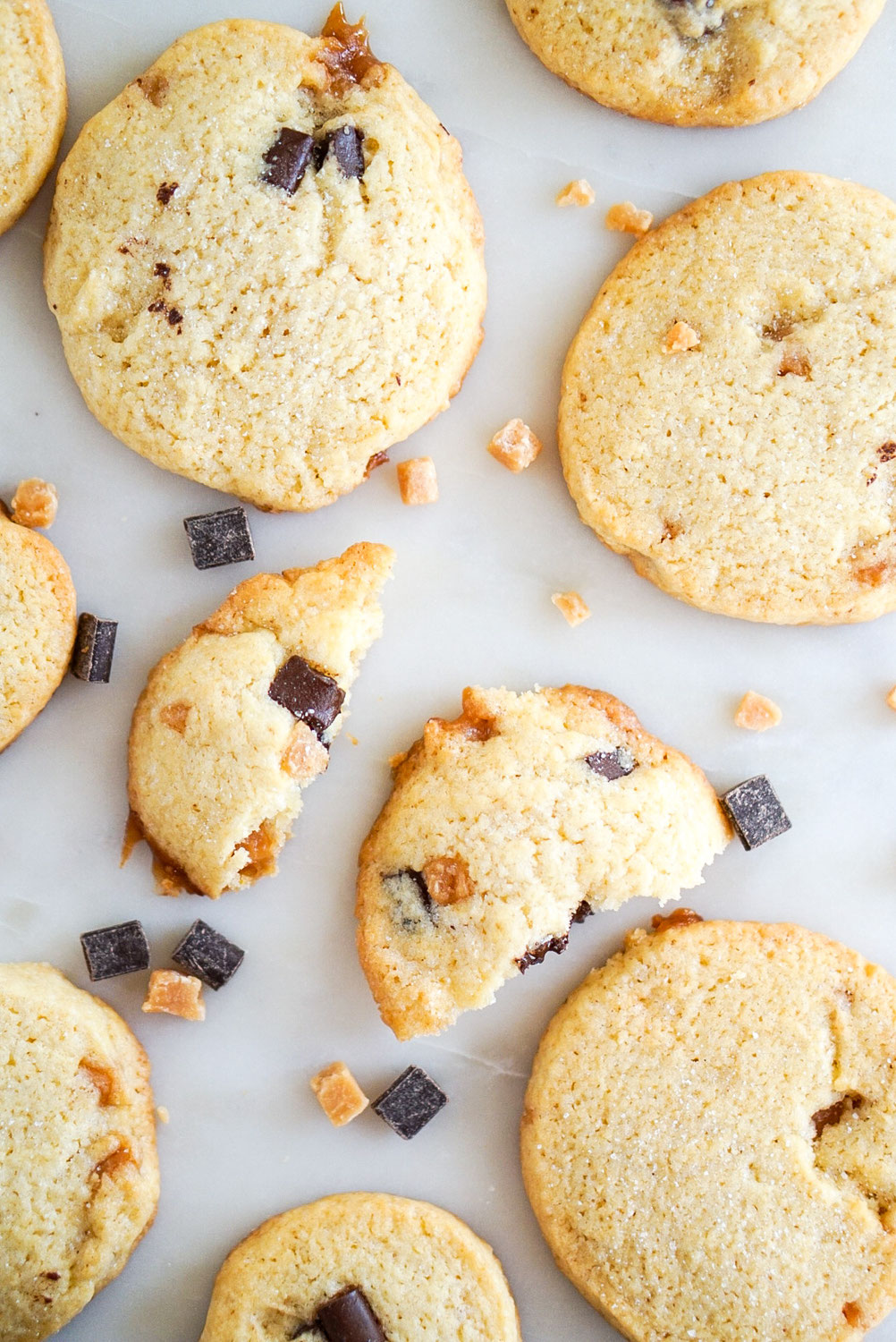 Chocolate Chip Cookies + salted Caramel