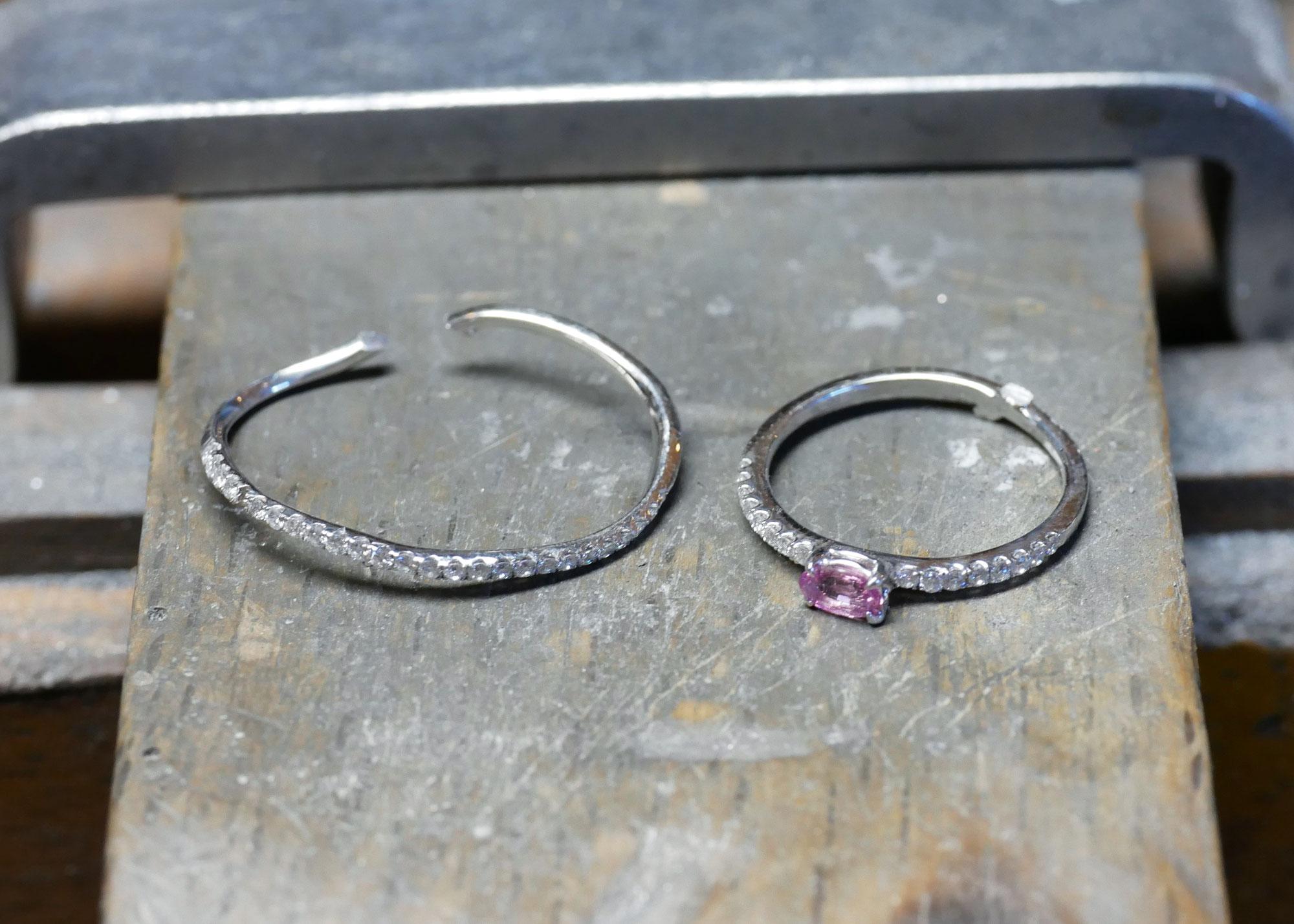 【前編】1つの指輪から指輪とネックレスにリフォーム!!