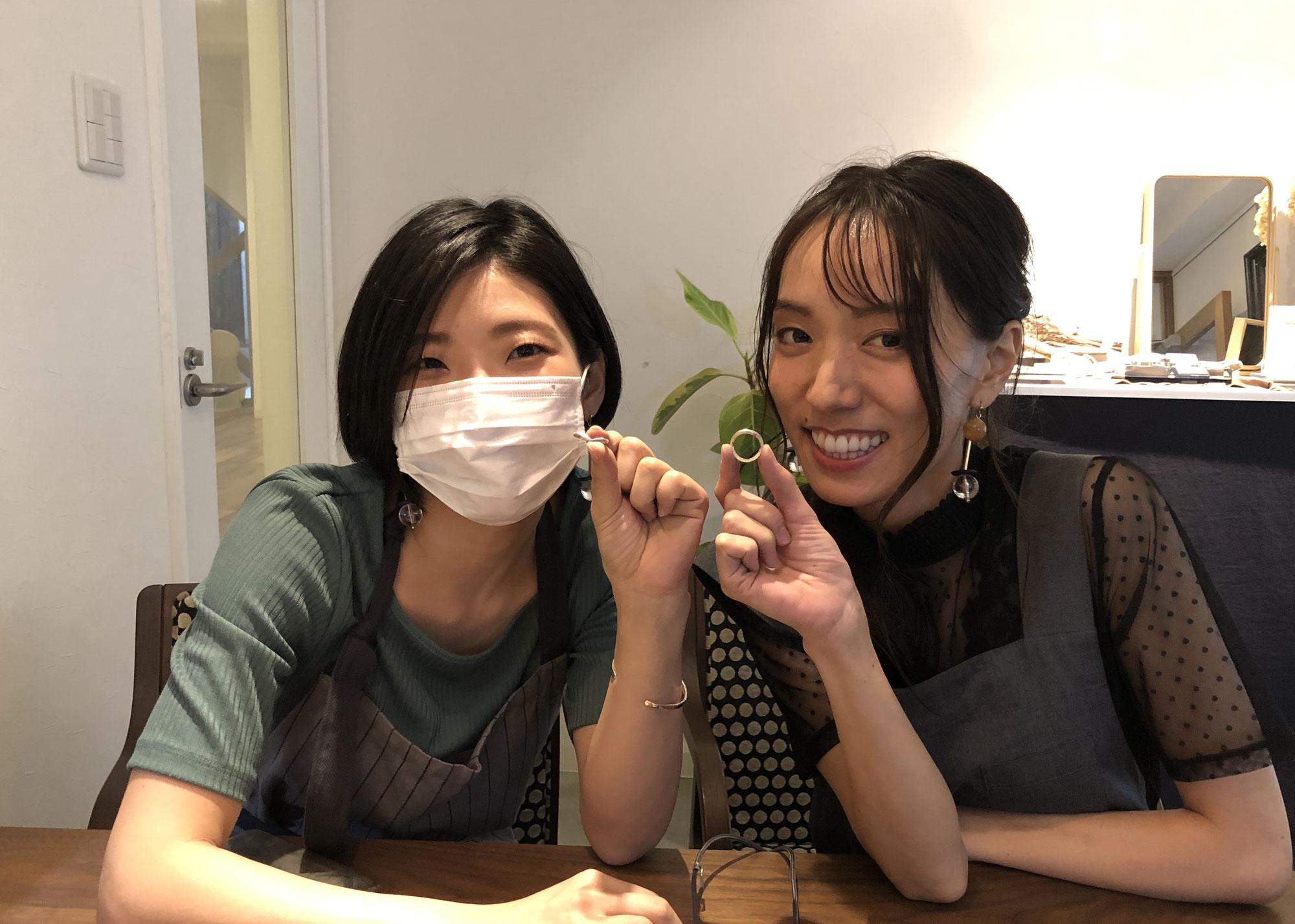 お友達同士で手作り指輪体験!!