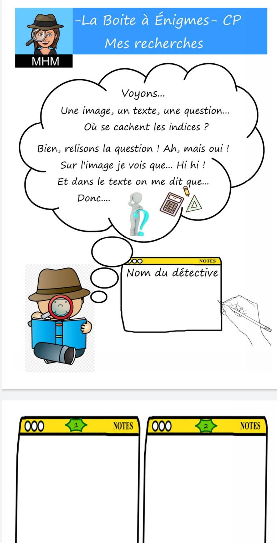 Boite à Enigmes MHM - Carnet de détective CP CE1!