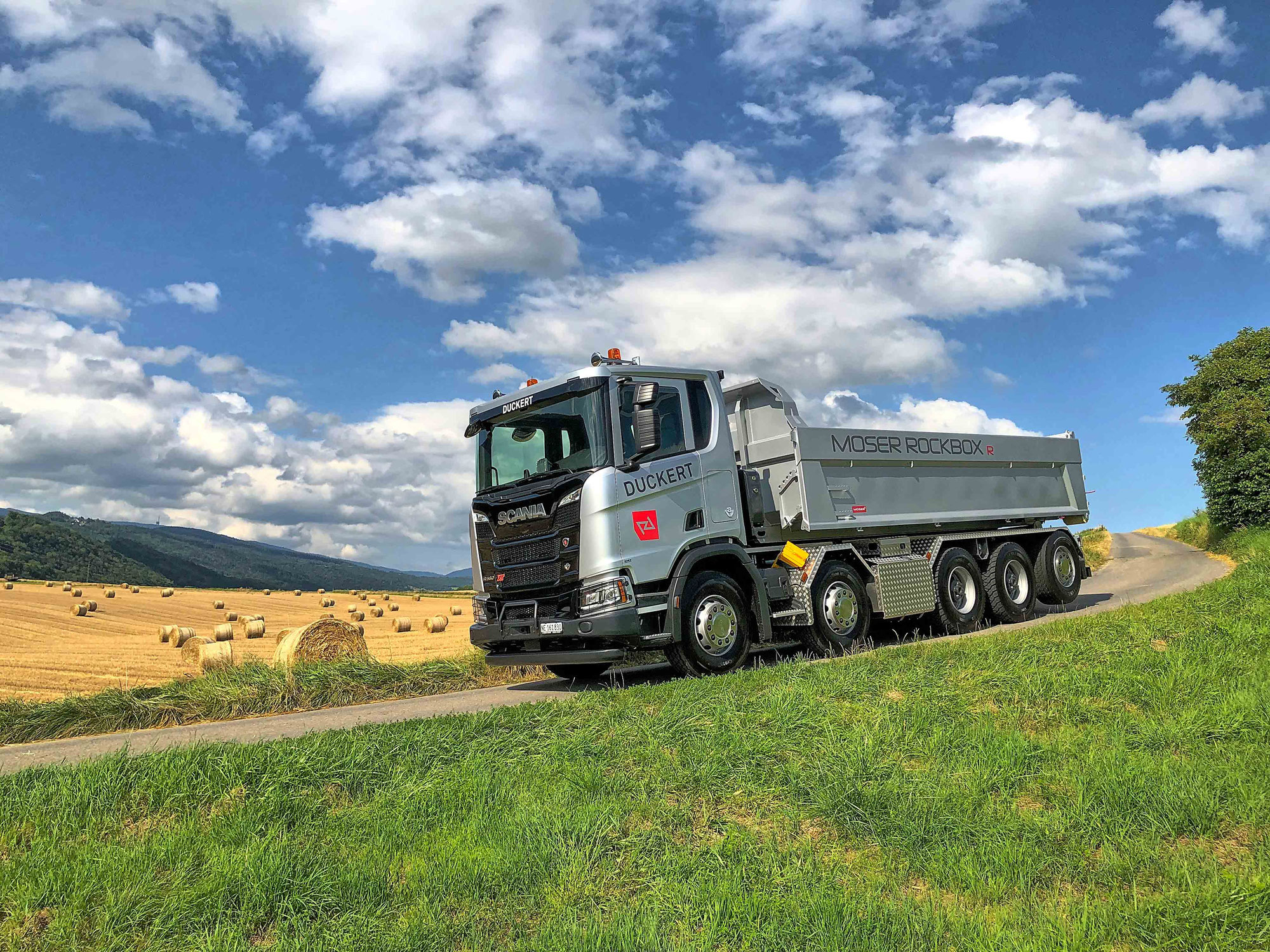 Duckert SA mit neuem Scania und Moser Rockbox