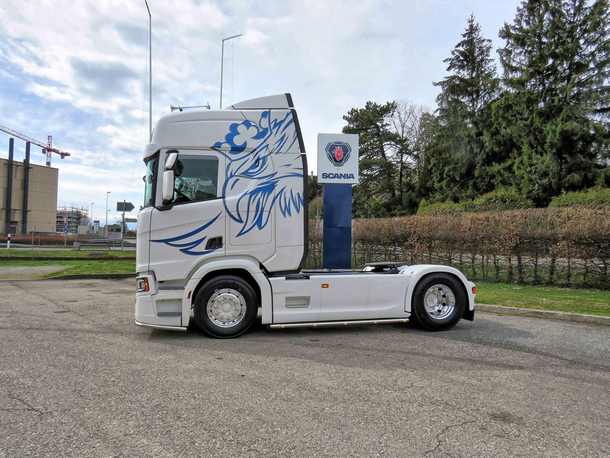 Der vierte Scania für Gilles Scheidegger