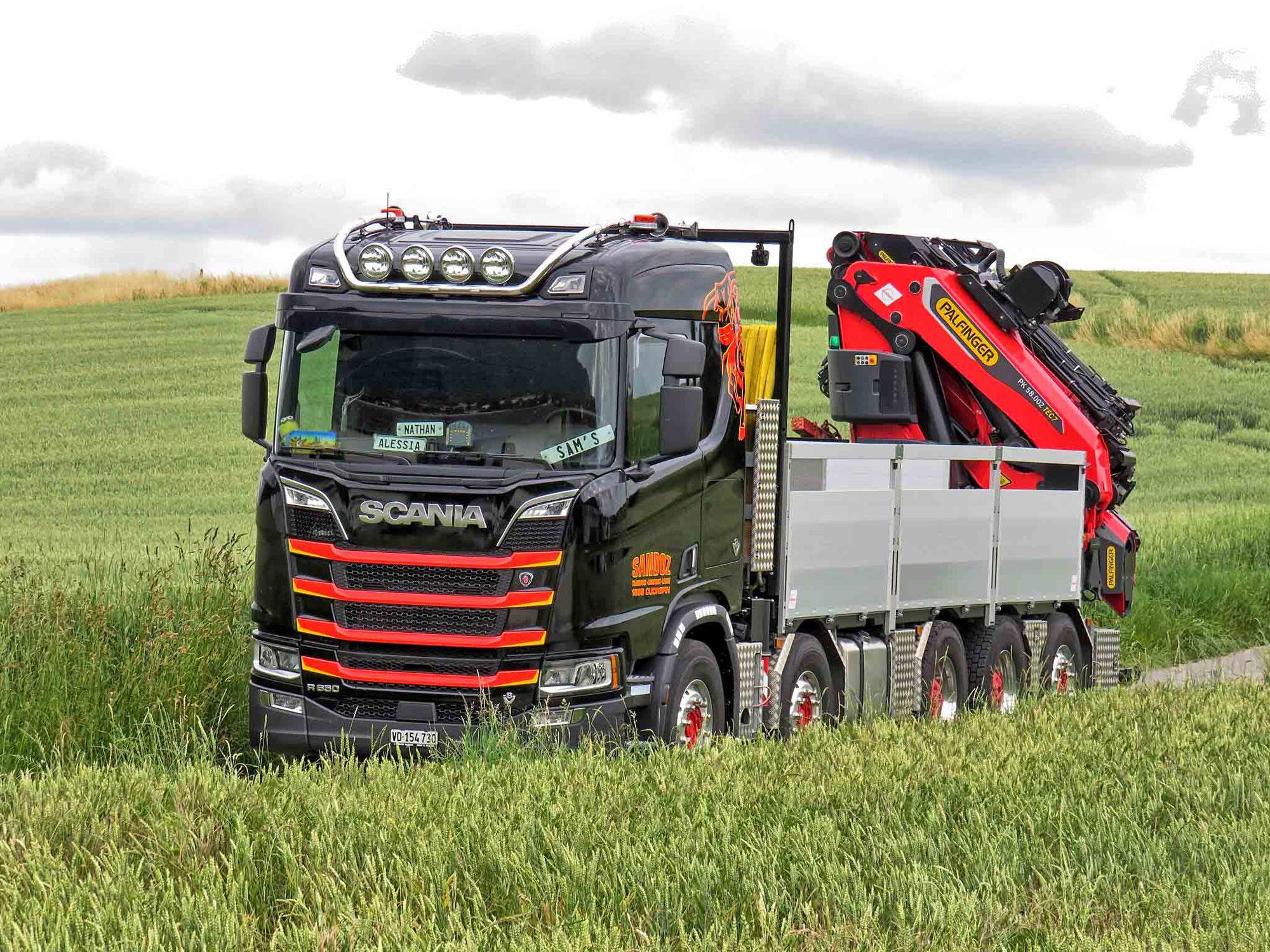 Ein toller V8 für die Sandoz Transport SA