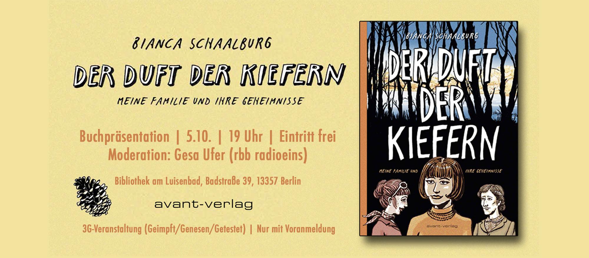Buchvorstellung DER DUFT DER KIEFERN von Bianca Schaalburg