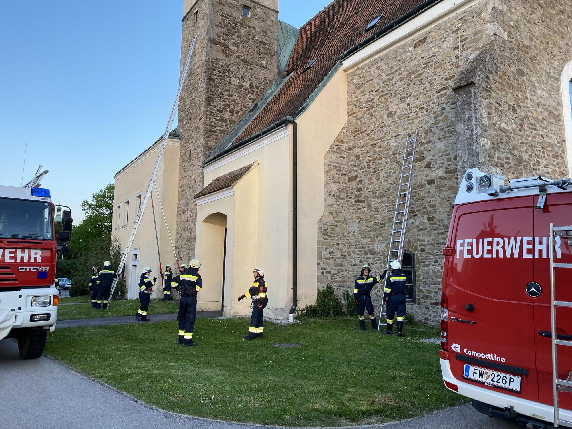 Leitern im Feuerwehrdienst