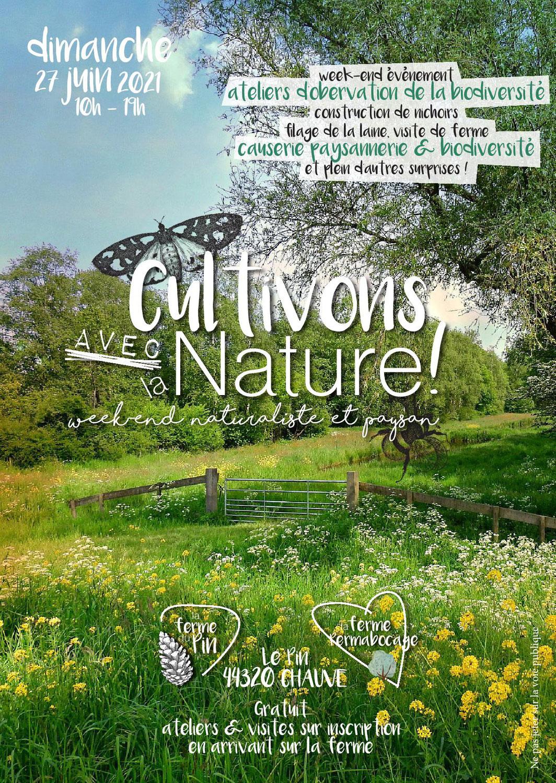 Cultivons avec la nature ! Week-end naturaliste et paysan (27 Juin 2021 à Chauvé, 44)