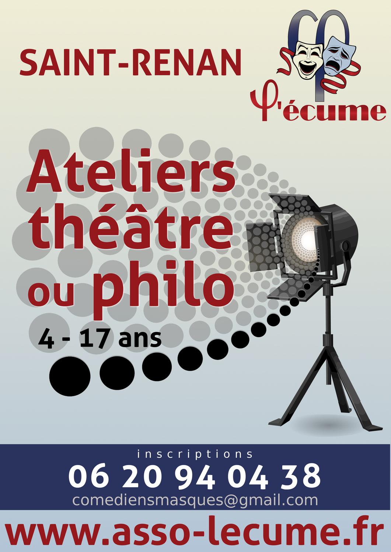 Rentrée des ateliers théâtre et philo le 29 septembre 2021 !