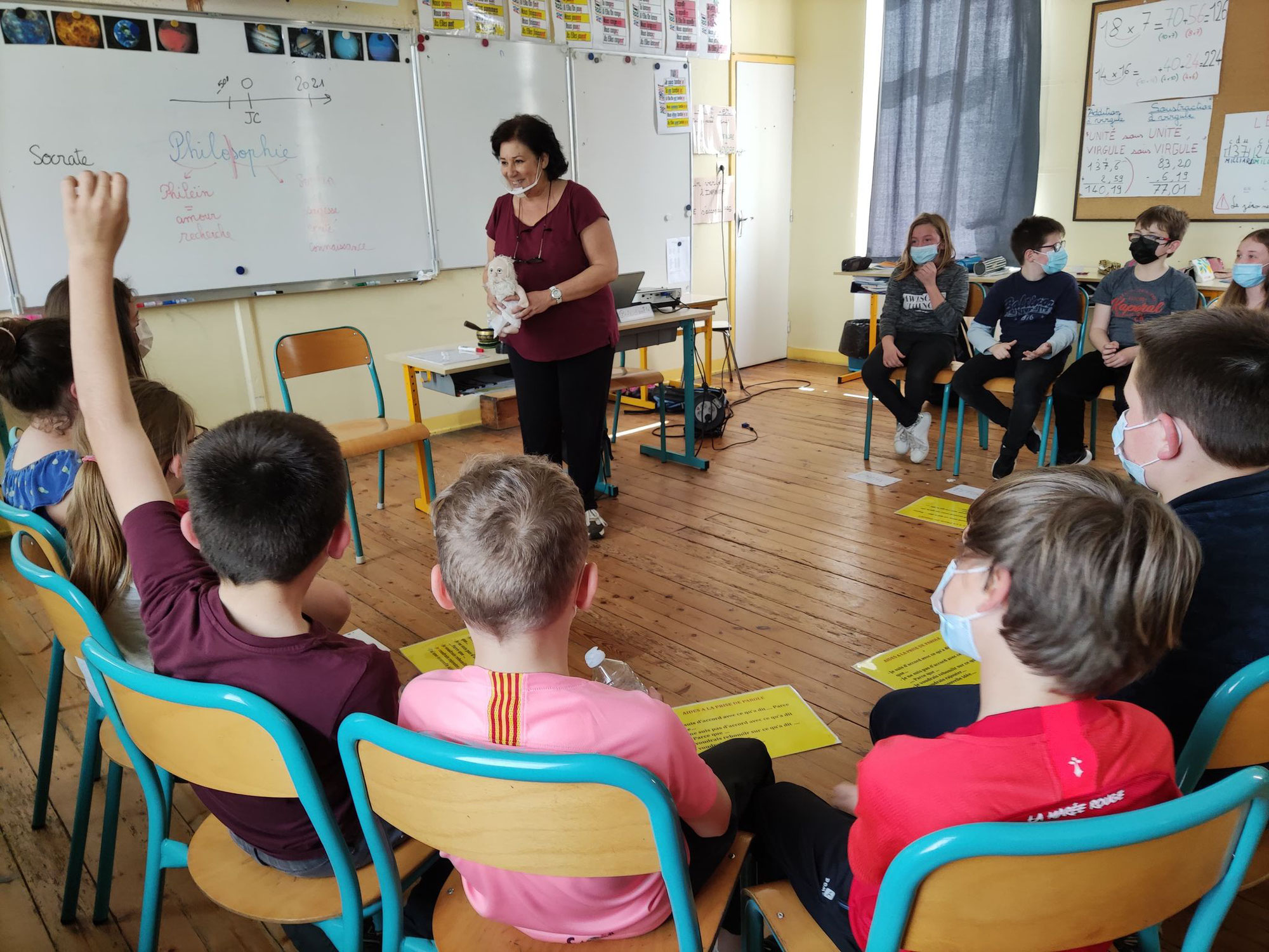 Ateliers philo à l'école Ste-Anne de Plouguin : que du bonheur !