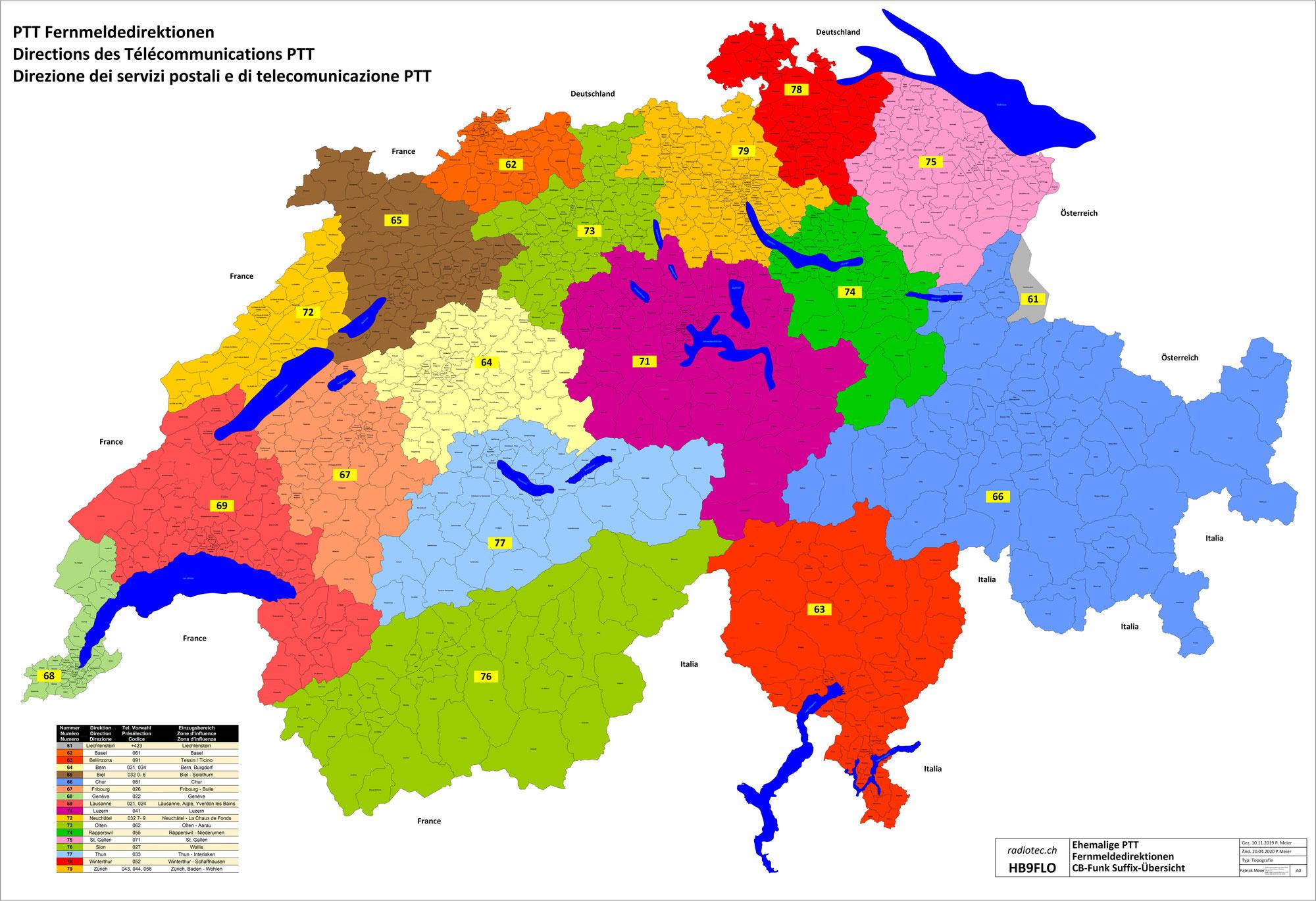 Rufzeichen-Nr. (Suffix) CB Funk Schweiz