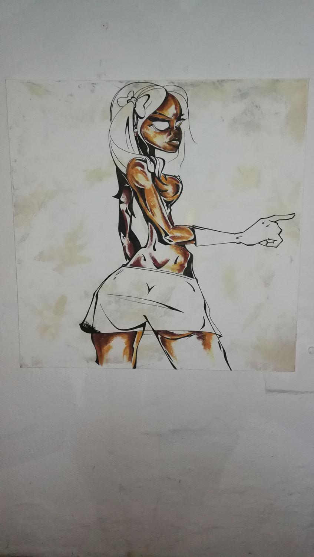 Graffiti Bild vom Graffitikünstler gemalt neu im Shop