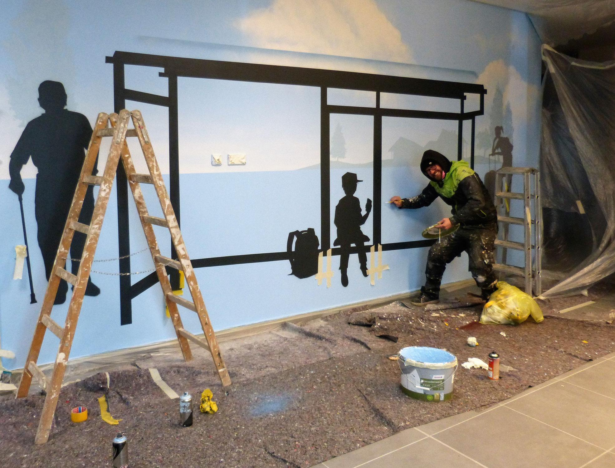 Wandmalerei für Büro und Kinderzimmer