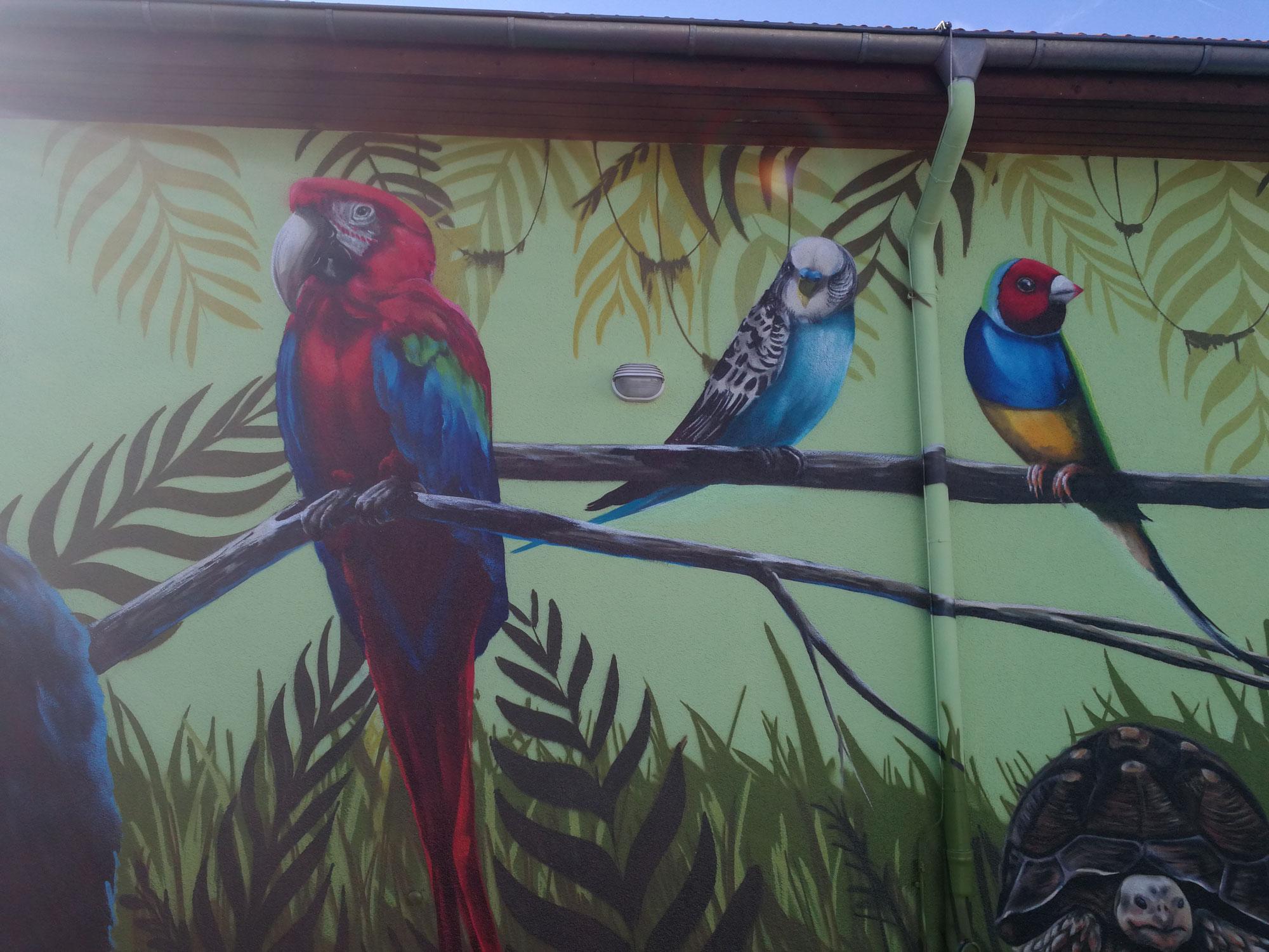 Tiermotive mit Graffiti-Dose gemalt vom Graffiti Künstler